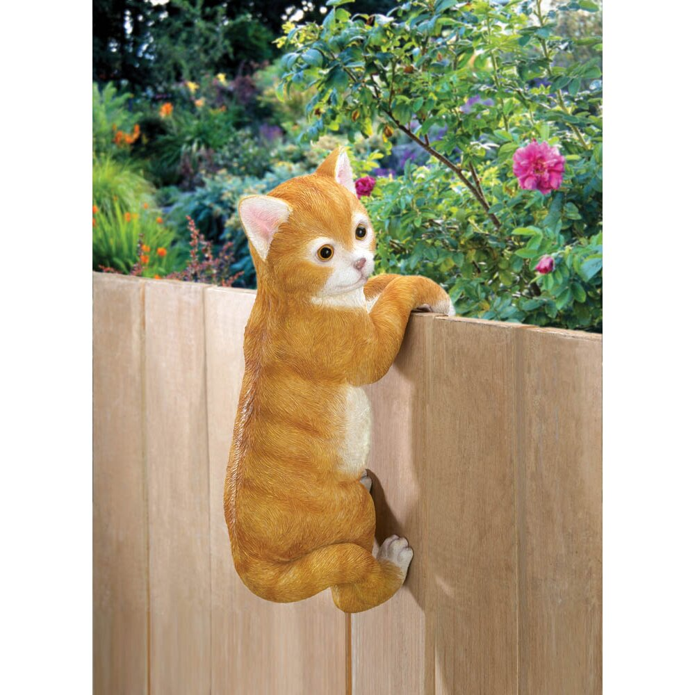 Charlton home berwick climbing cat statue reviews wayfair for Christmas cat yard decorations