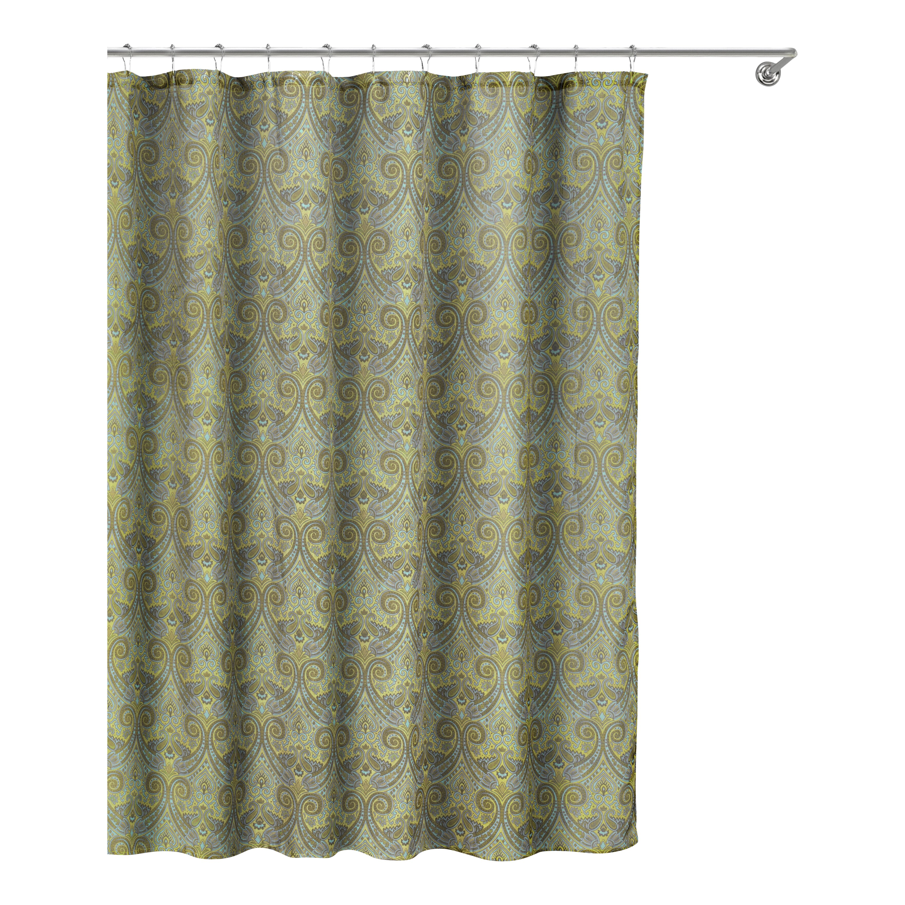 Charlton Home Portland Linen Look Shower Curtain Reviews Wayfair