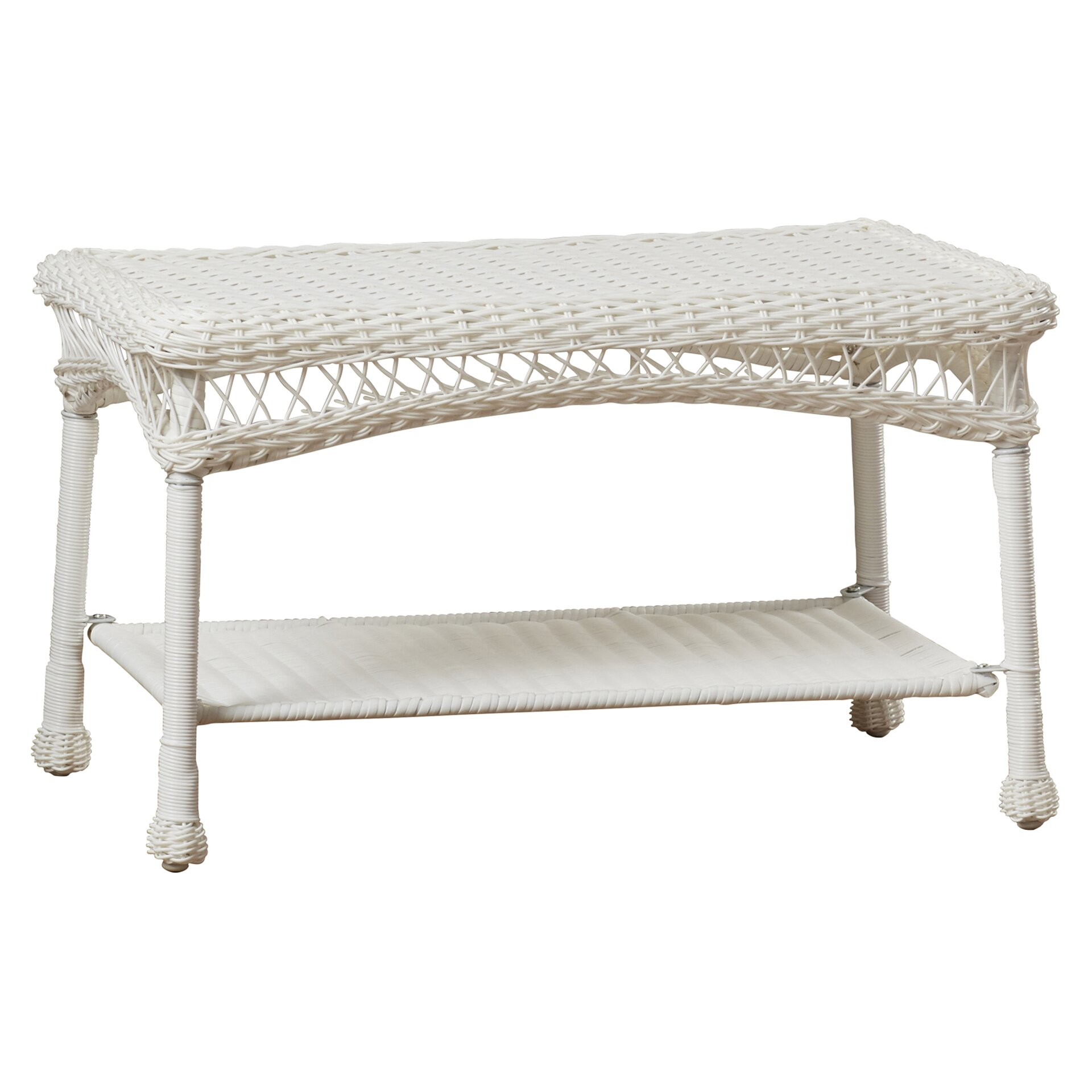 Charlton Home Forthill Wicker Patio Furniture Coffee Table Reviews
