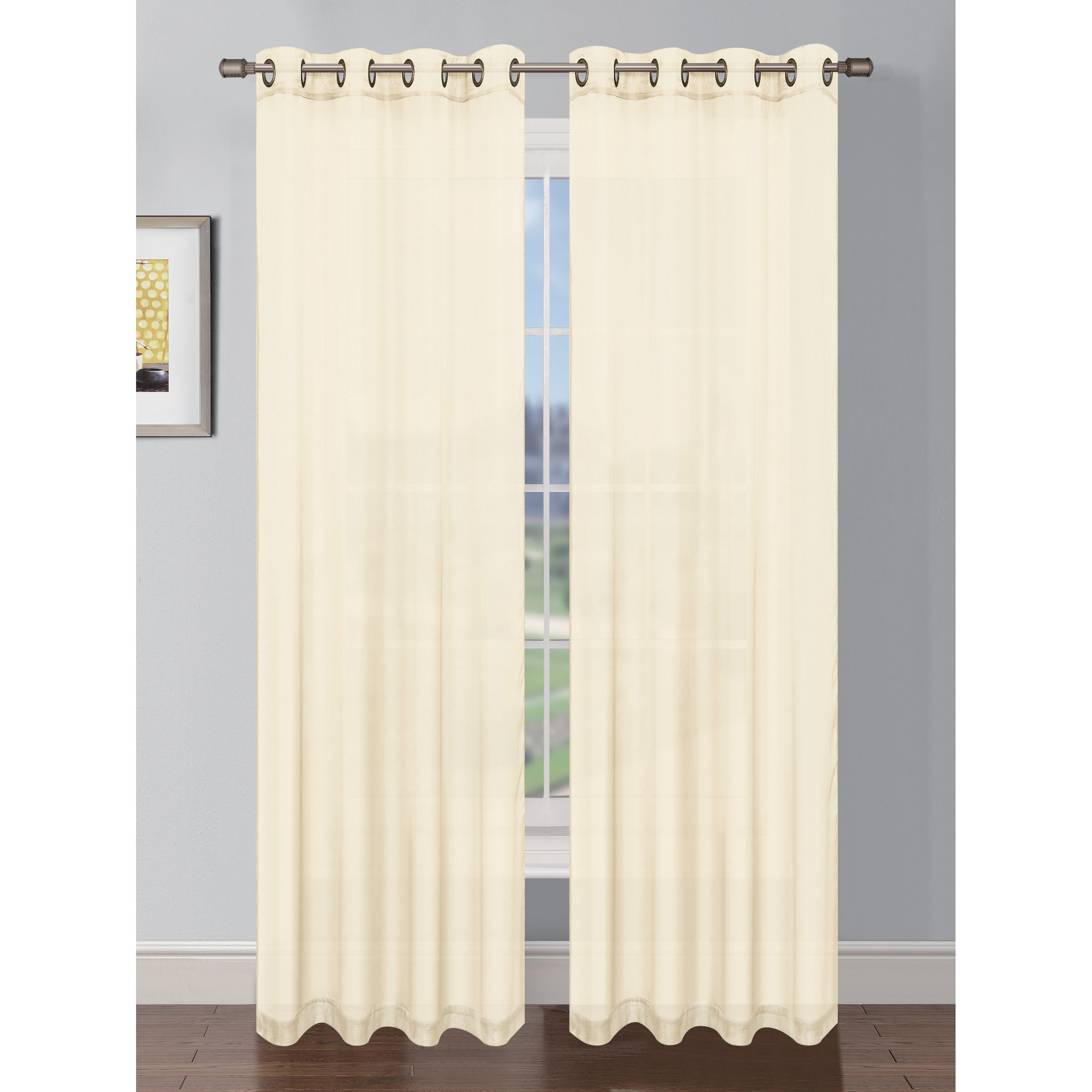 Charlton Home Gallimore Faux Linen Grommet Extra Wide Curtain Panels Reviews Wayfair