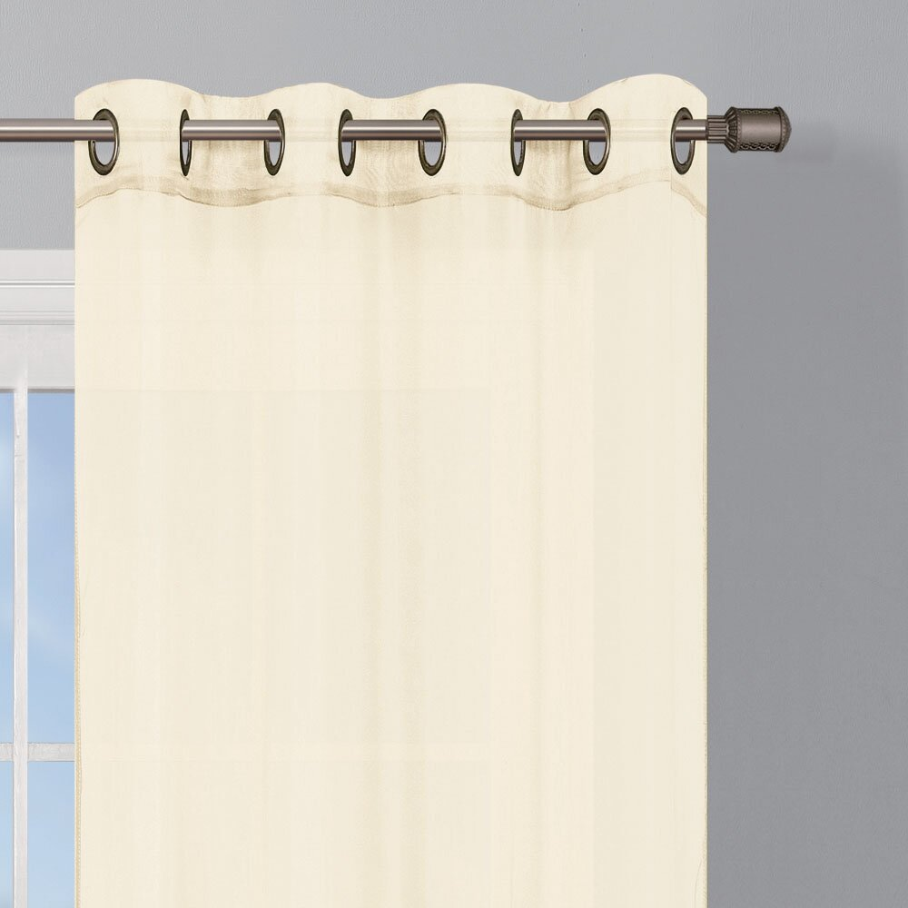 Charlton Home Gallimore Grommet Extra Wide Curtain Panels Reviews