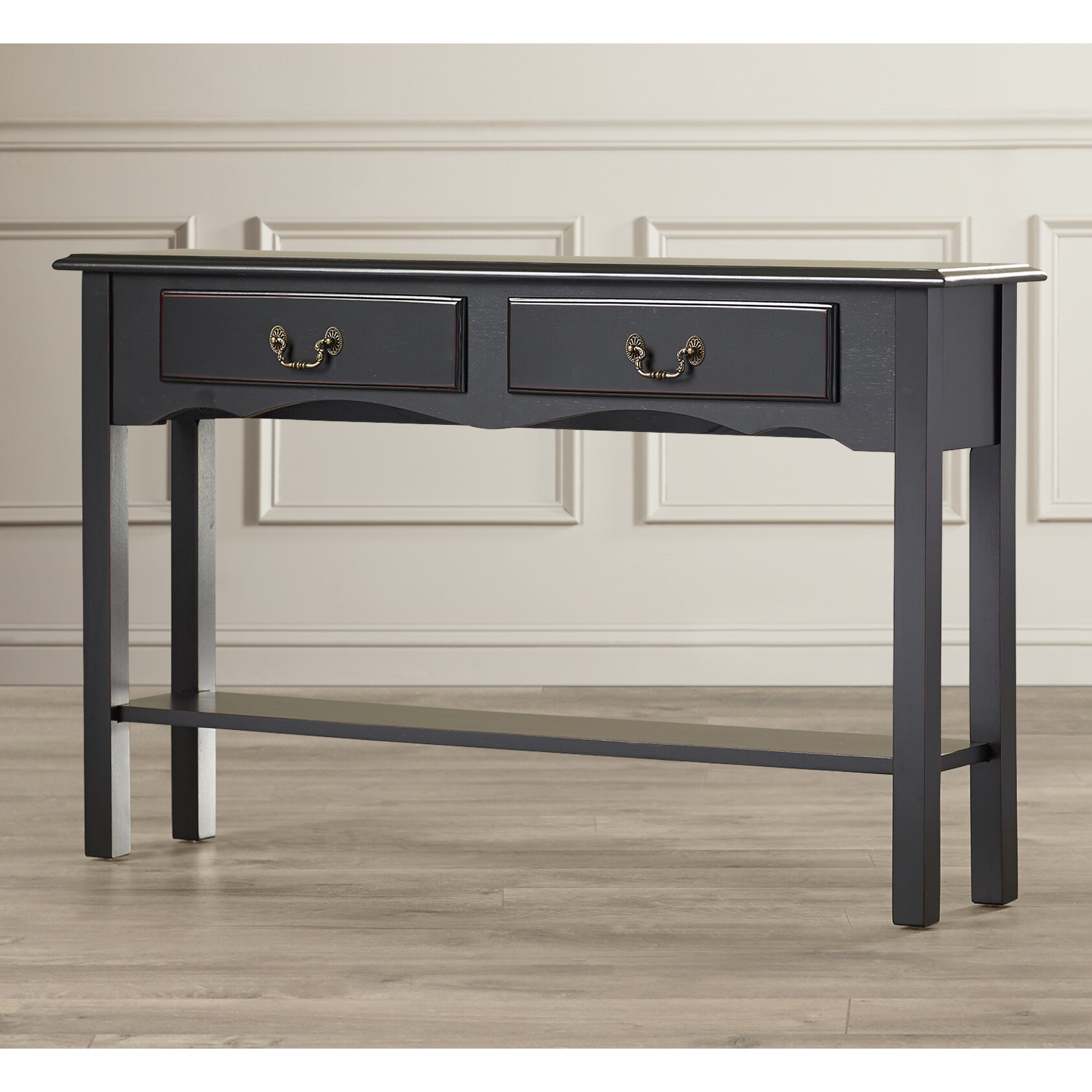 charlton home annesley petite console table reviews. Black Bedroom Furniture Sets. Home Design Ideas