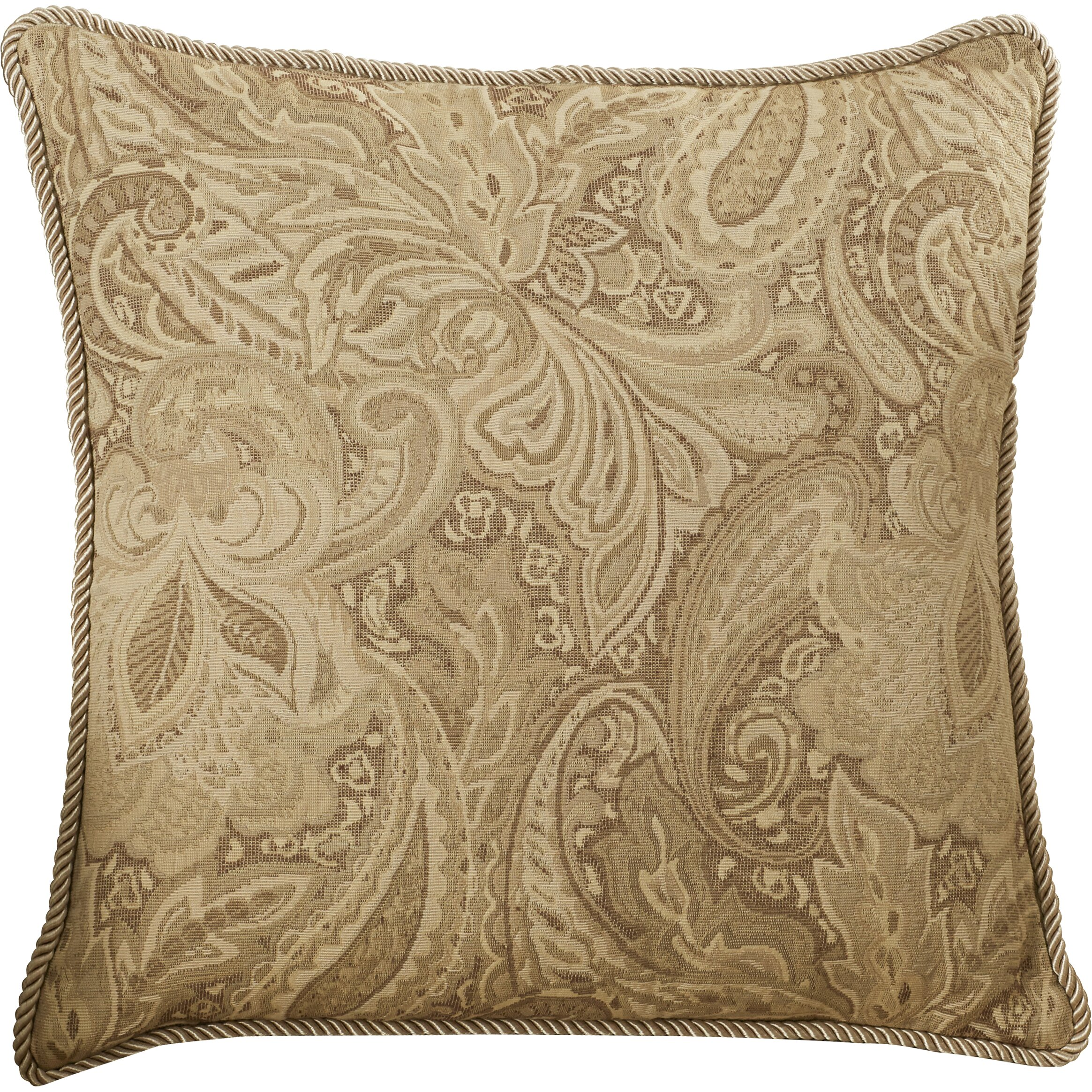 Jacquard Decorative Pillows : Charlton Home Drayton Jacquard Paisley Throw Pillow & Reviews Wayfair