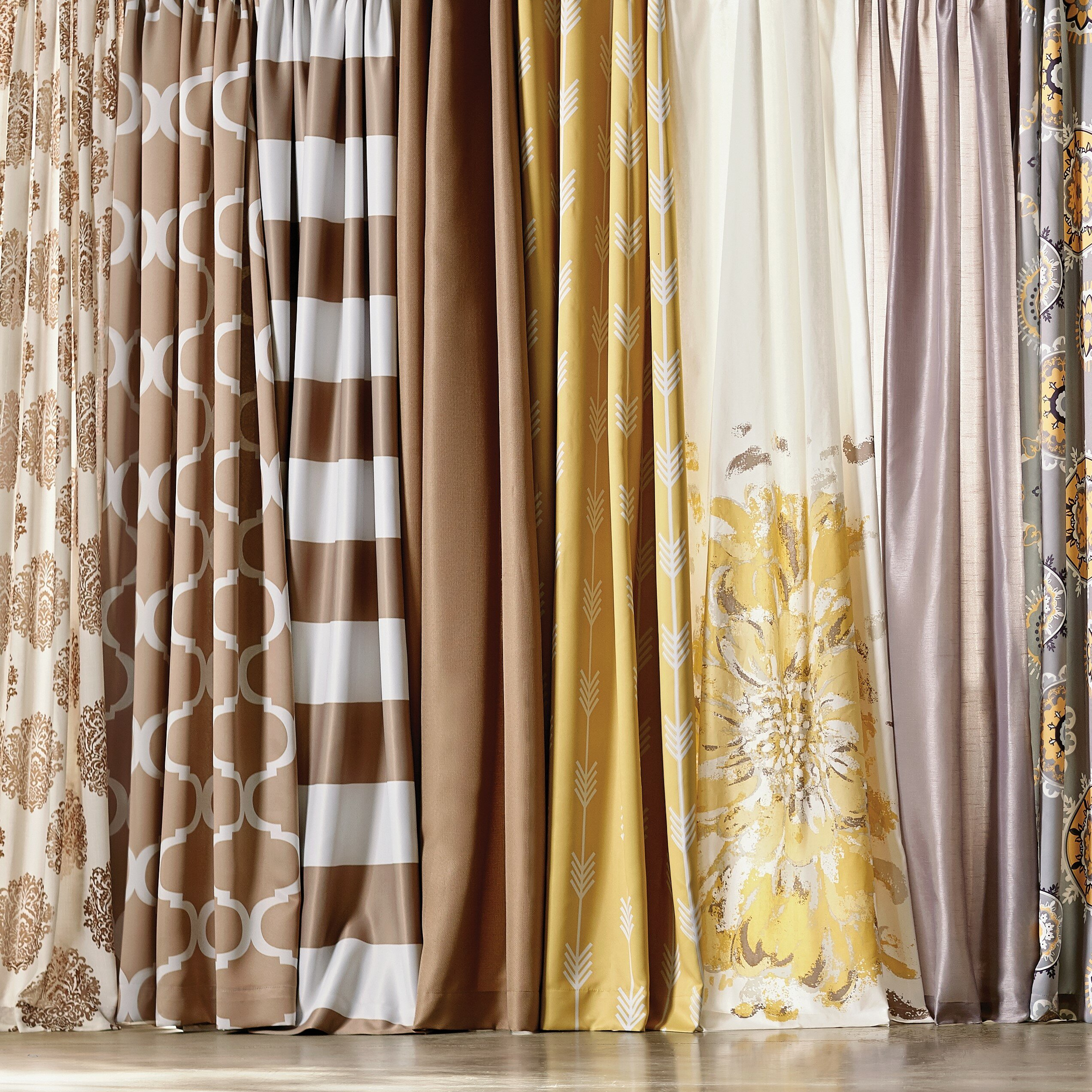 Charlton Home Stokes Single Rod Pocket Grommet Curtain