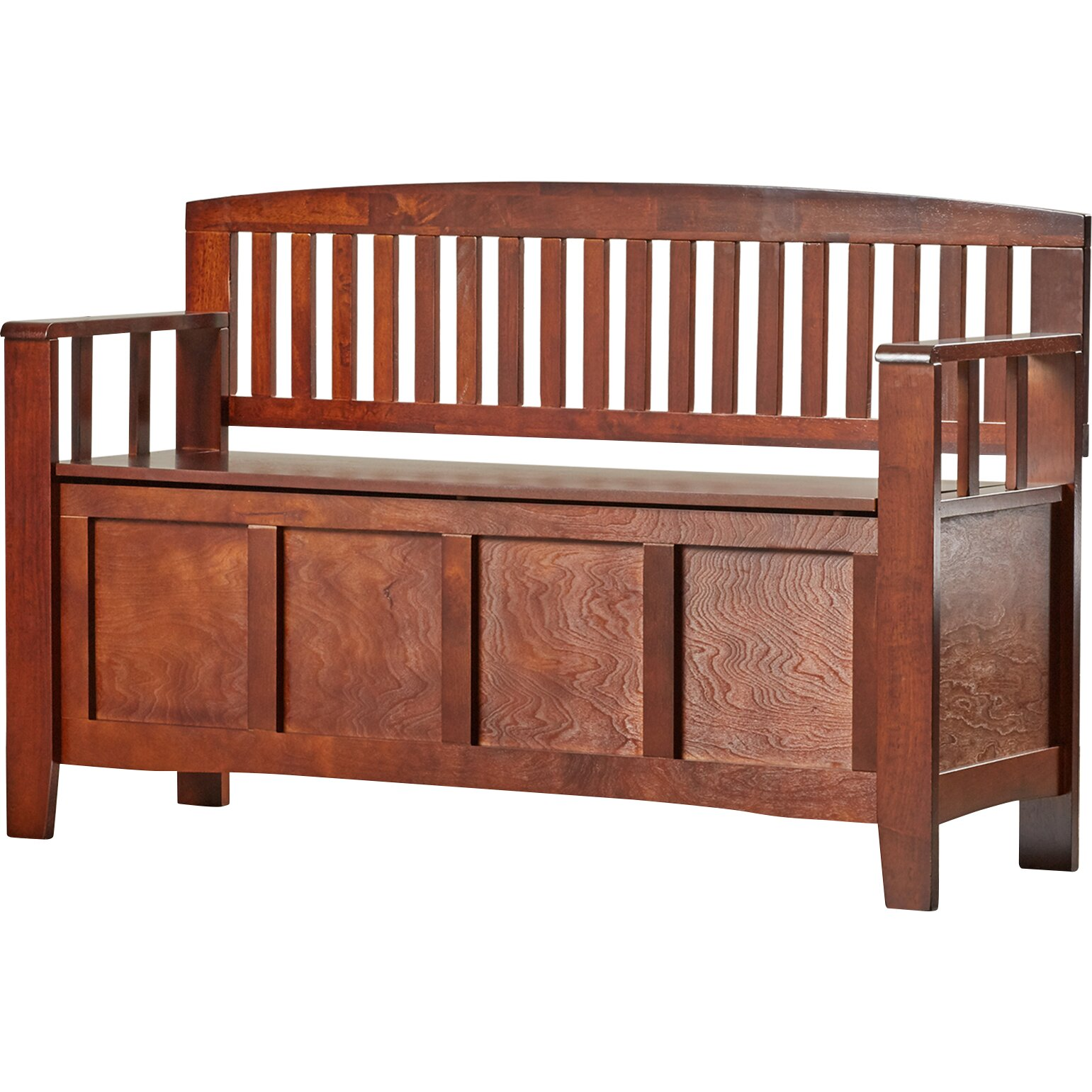 Charlton home bush creek solid wood storage entryway bench for Storage charlton
