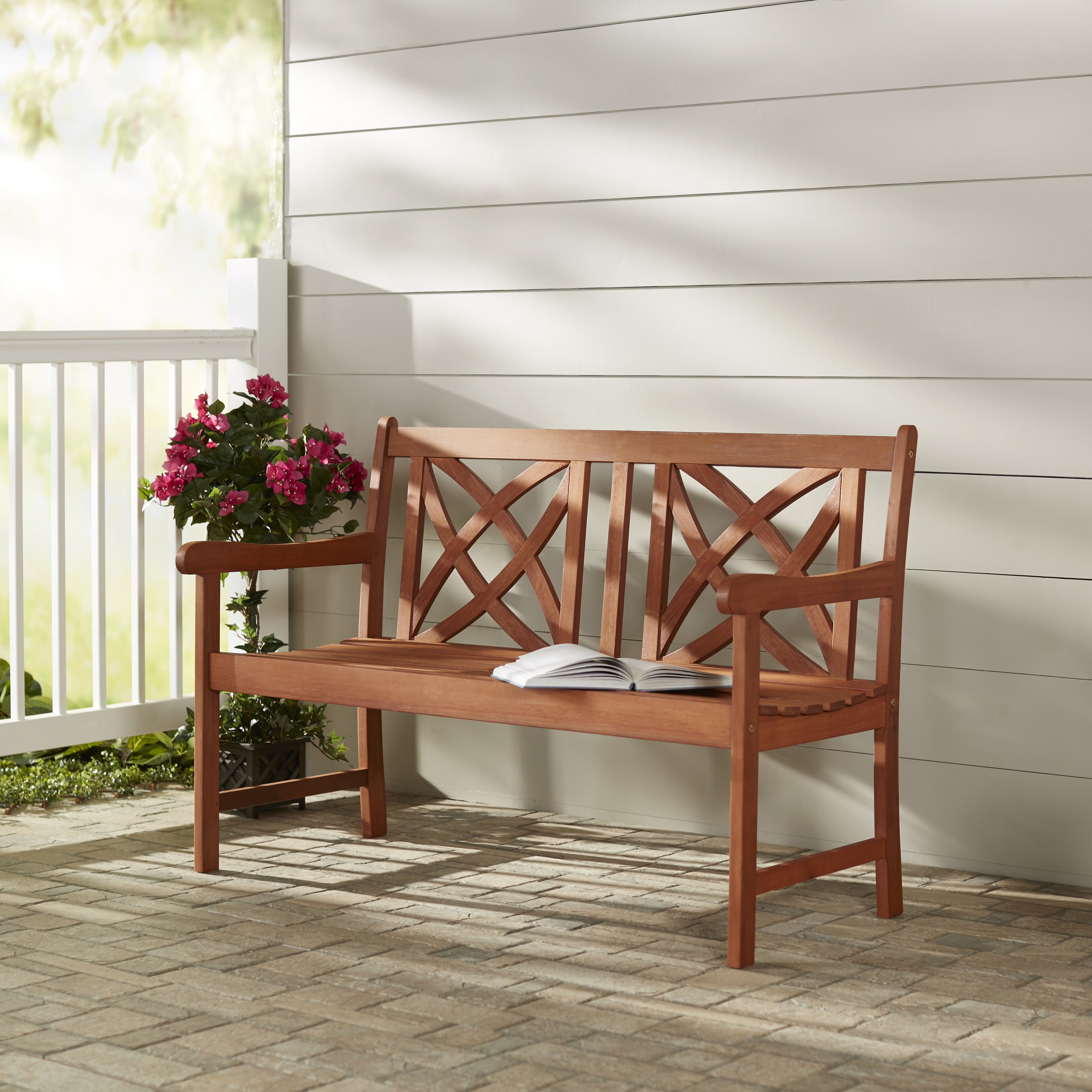Wooden Benches Outdoor: Charlton Home Wood Garden Bench & Reviews