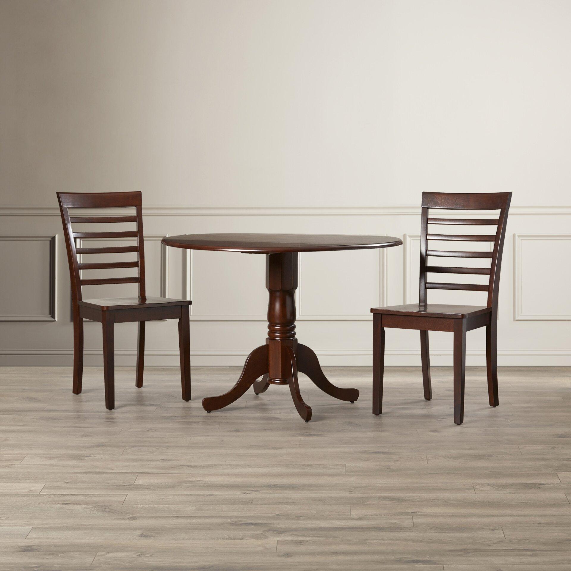 charlton home gloucester 3 piece dining set reviews wayfair. Black Bedroom Furniture Sets. Home Design Ideas
