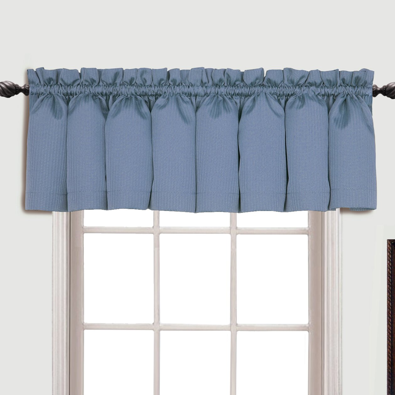 Charlton Home Suzanne Rod Pocket Tailored 54 Curtain Valance Reviews Wayfair