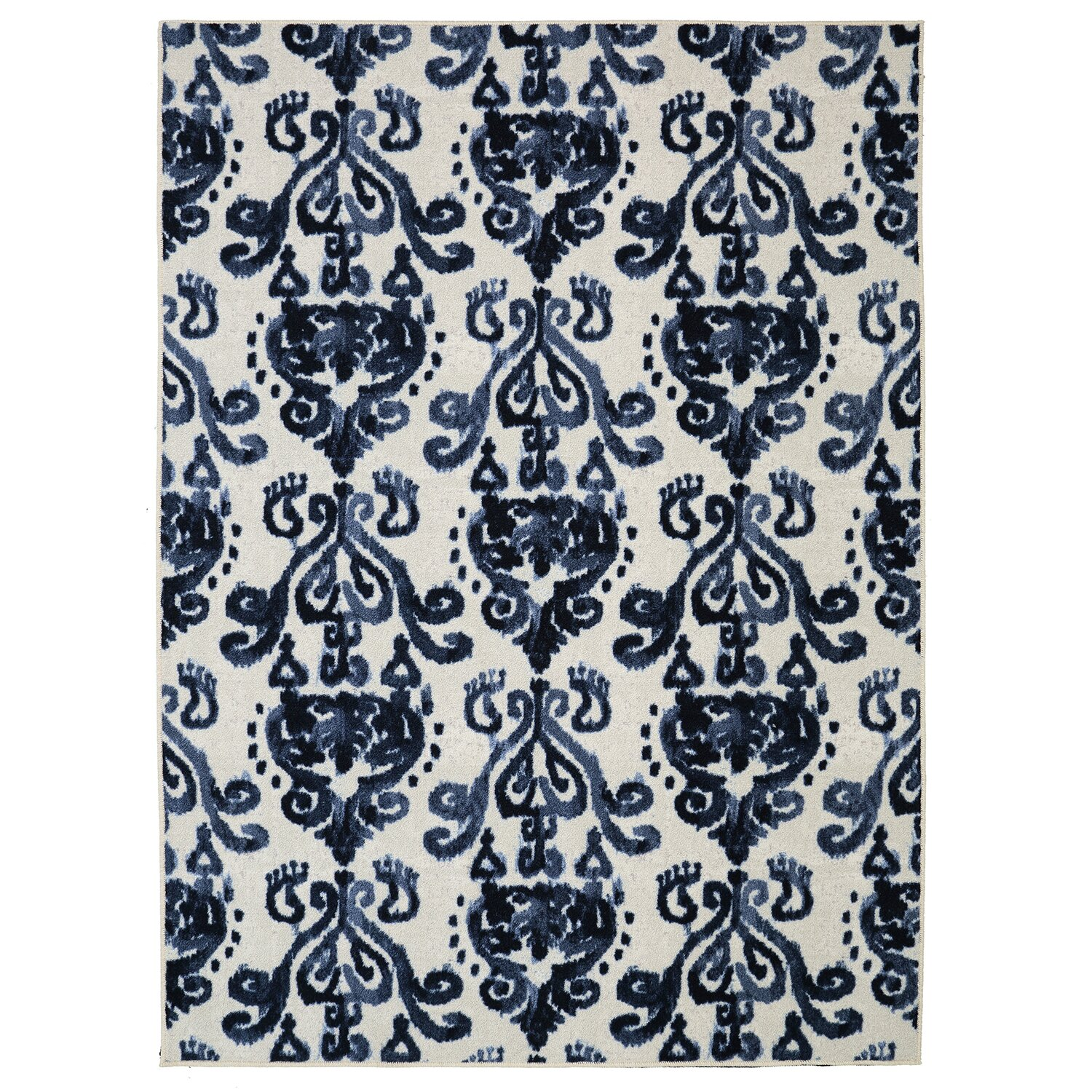 Charlton home leonard blue cream area rug reviews wayfair for Where can i buy area rugs
