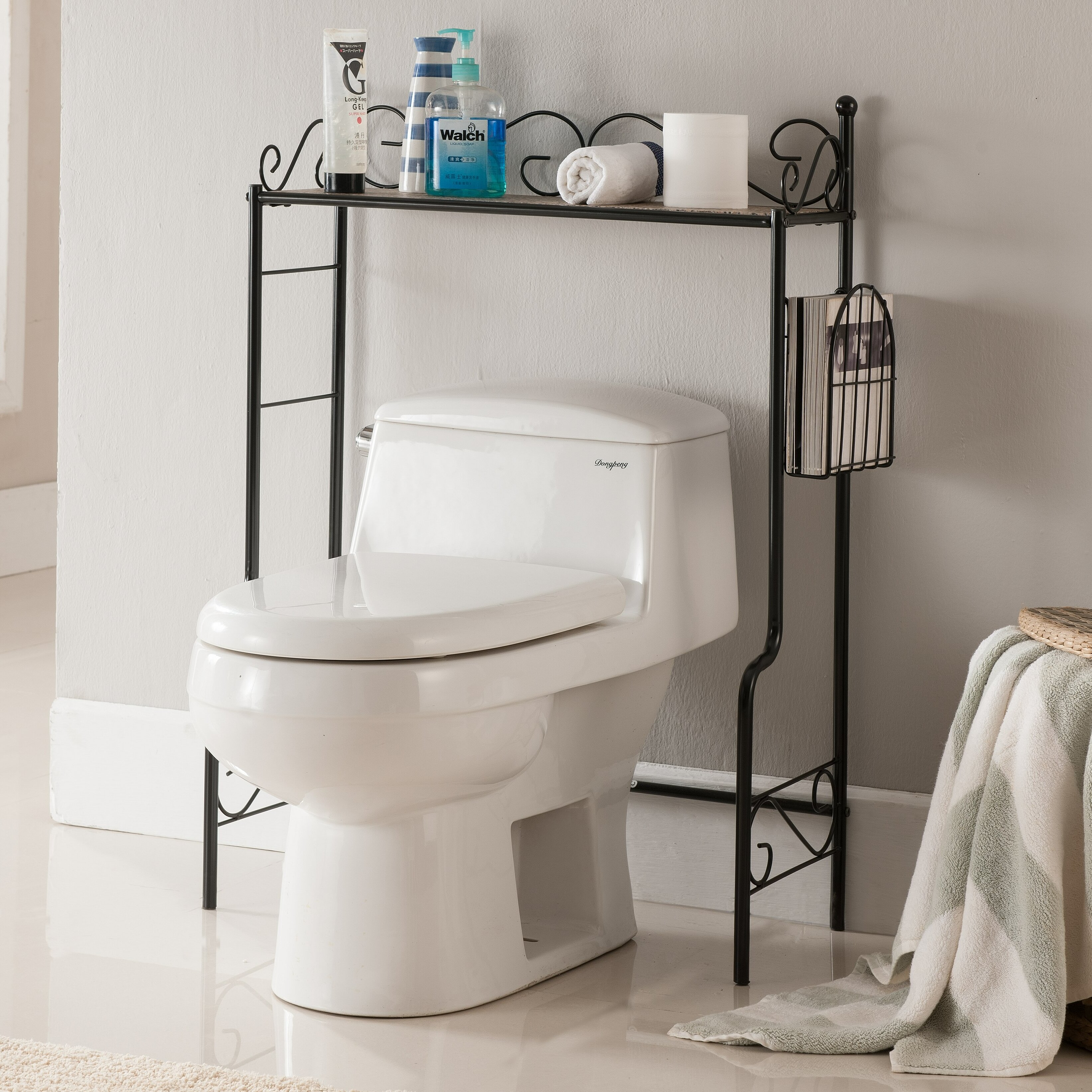 Charlton home greenfield etagere bathroom rack reviews - Etagere toilette ...