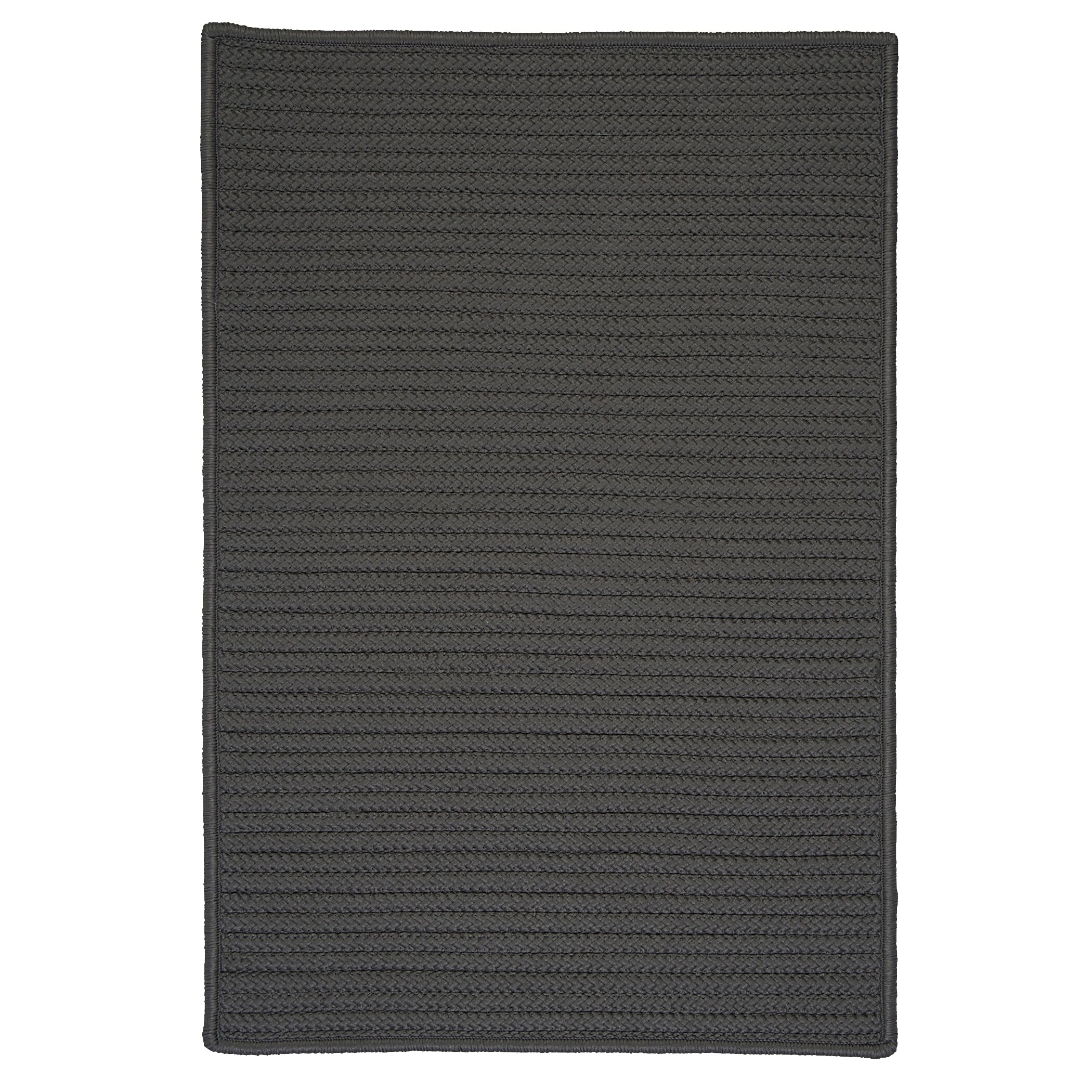 Charlton Home Glasgow Gray Solid Indoor Outdoor Area Rug