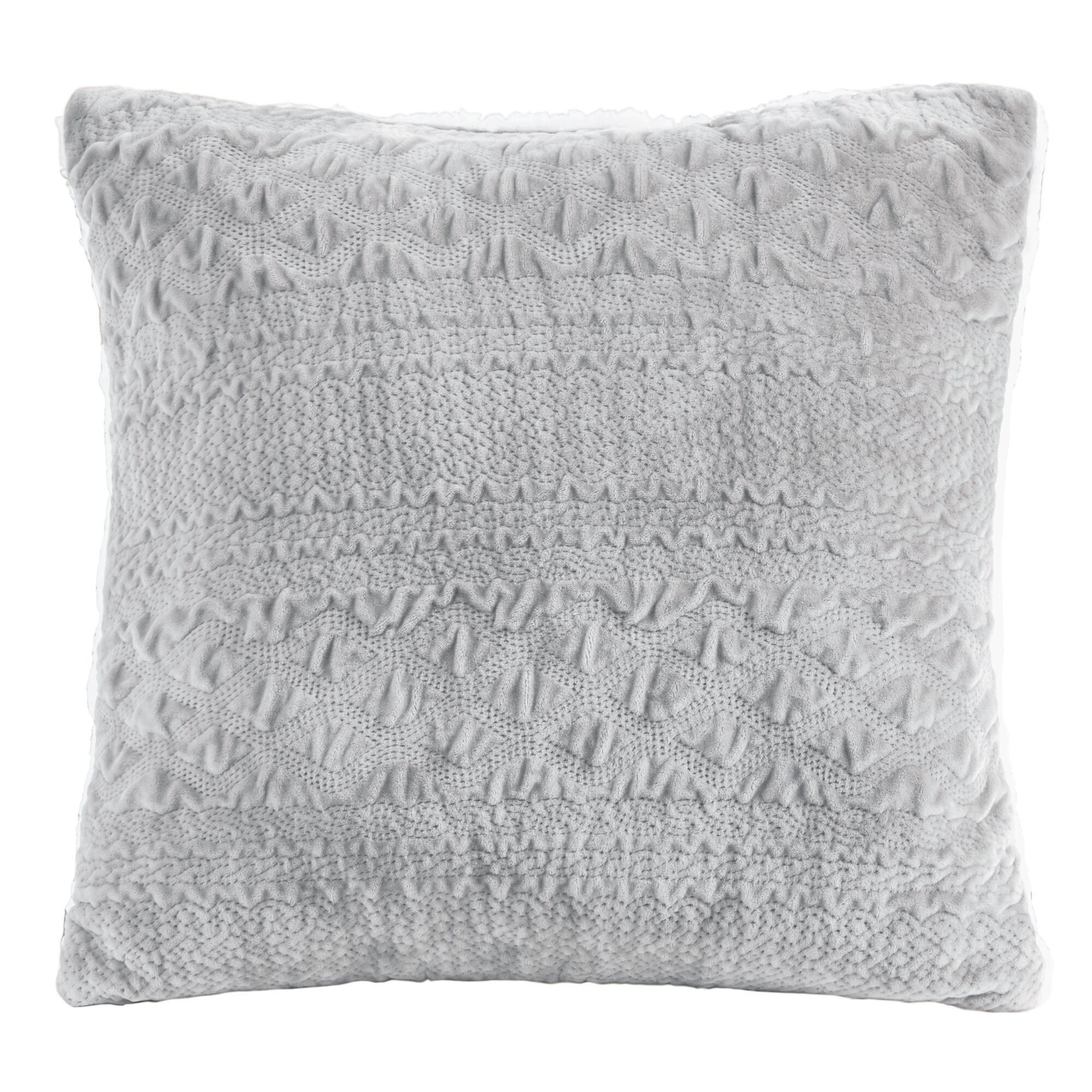 Throw Pillows Textured : Charlton Home Edmond Textured Plush Throw Pillow & Reviews Wayfair