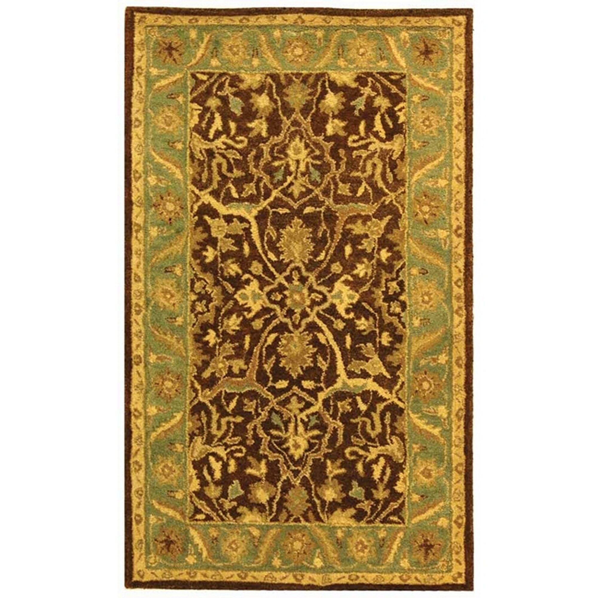 Charlton Home Dunbar Brown/Green Area Rug & Reviews