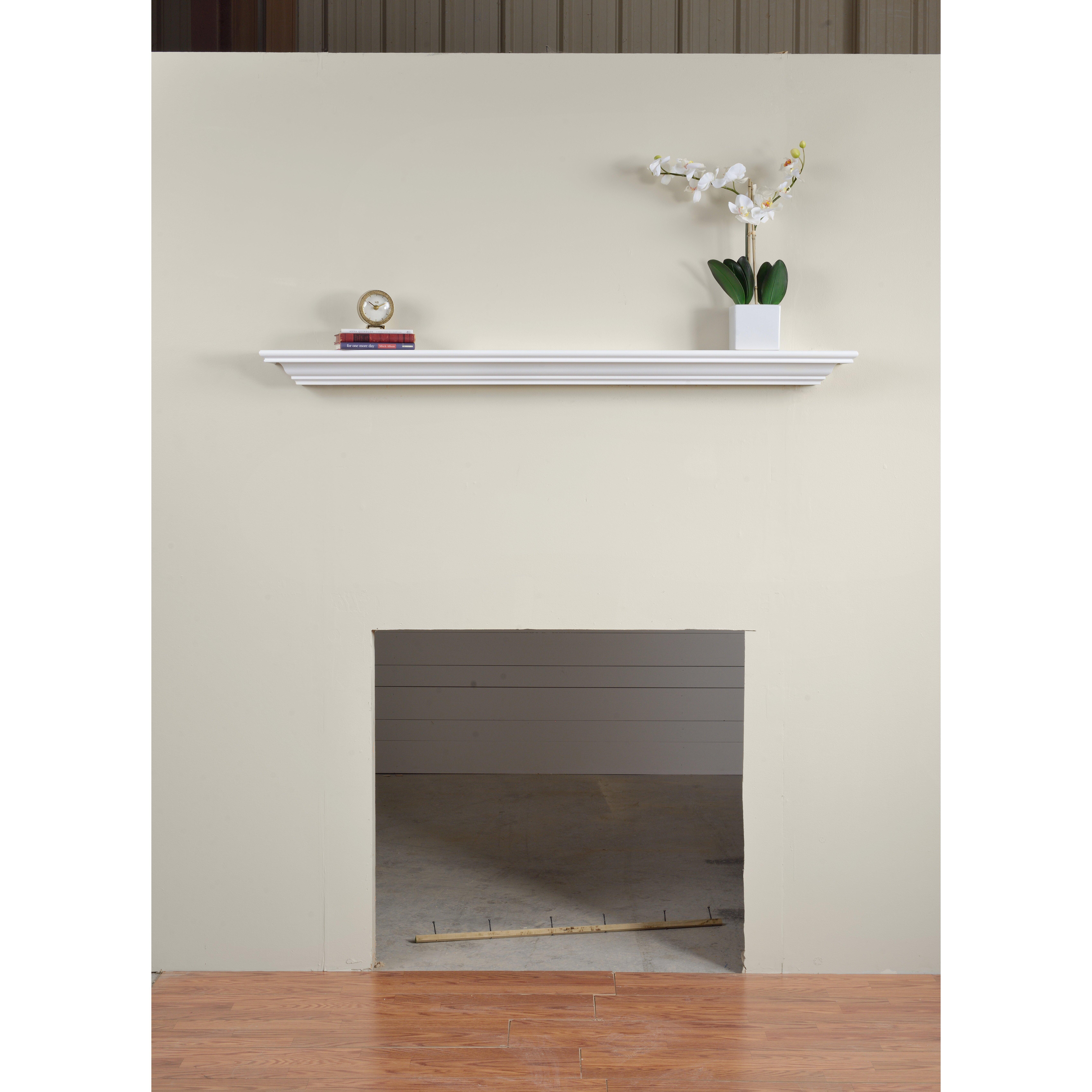Charlton Home Corlina Fireplace Mantel Shelf Wayfair