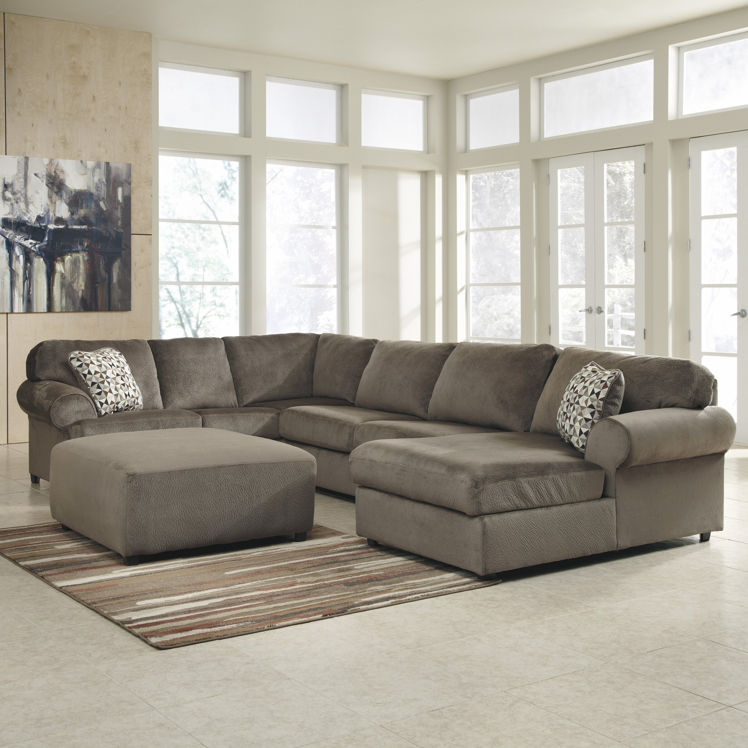 Charlton Home Brewster Sectional Reviews Wayfair