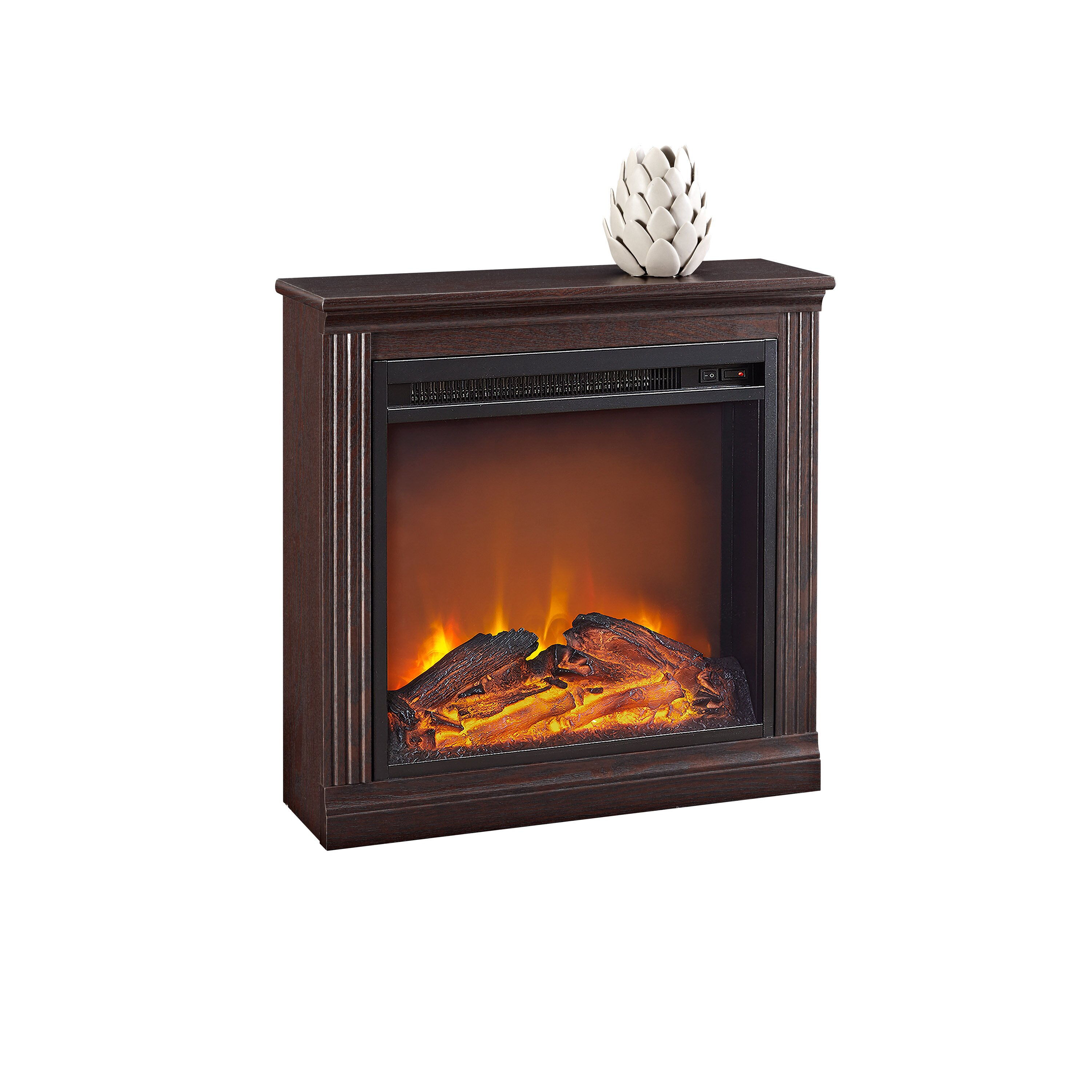 Charlton Home Allensby Simple Electric Fireplace Reviews Wayfair