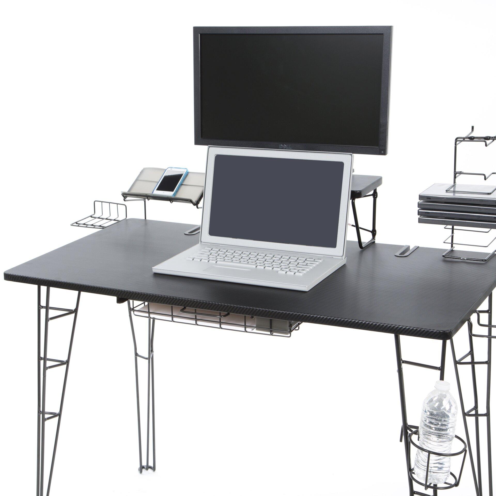 varick gallery wyona gaming computer desk reviews. Black Bedroom Furniture Sets. Home Design Ideas