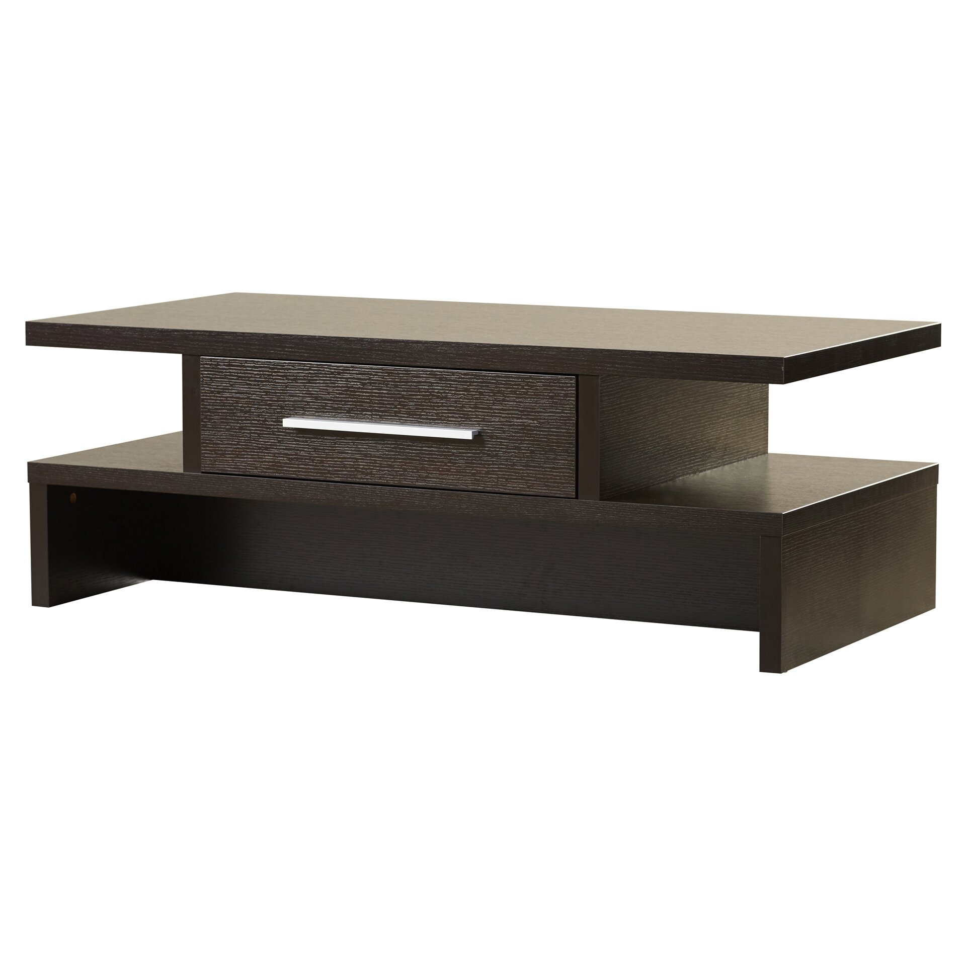 rectangle coffee table varick gallery rectangular one drawer coffee table