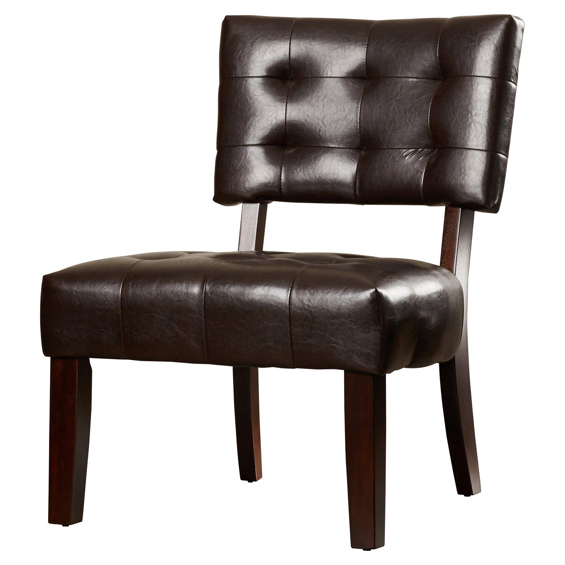 Varick Gallery Modern Vinyl Slipper Chair Amp Reviews Wayfair