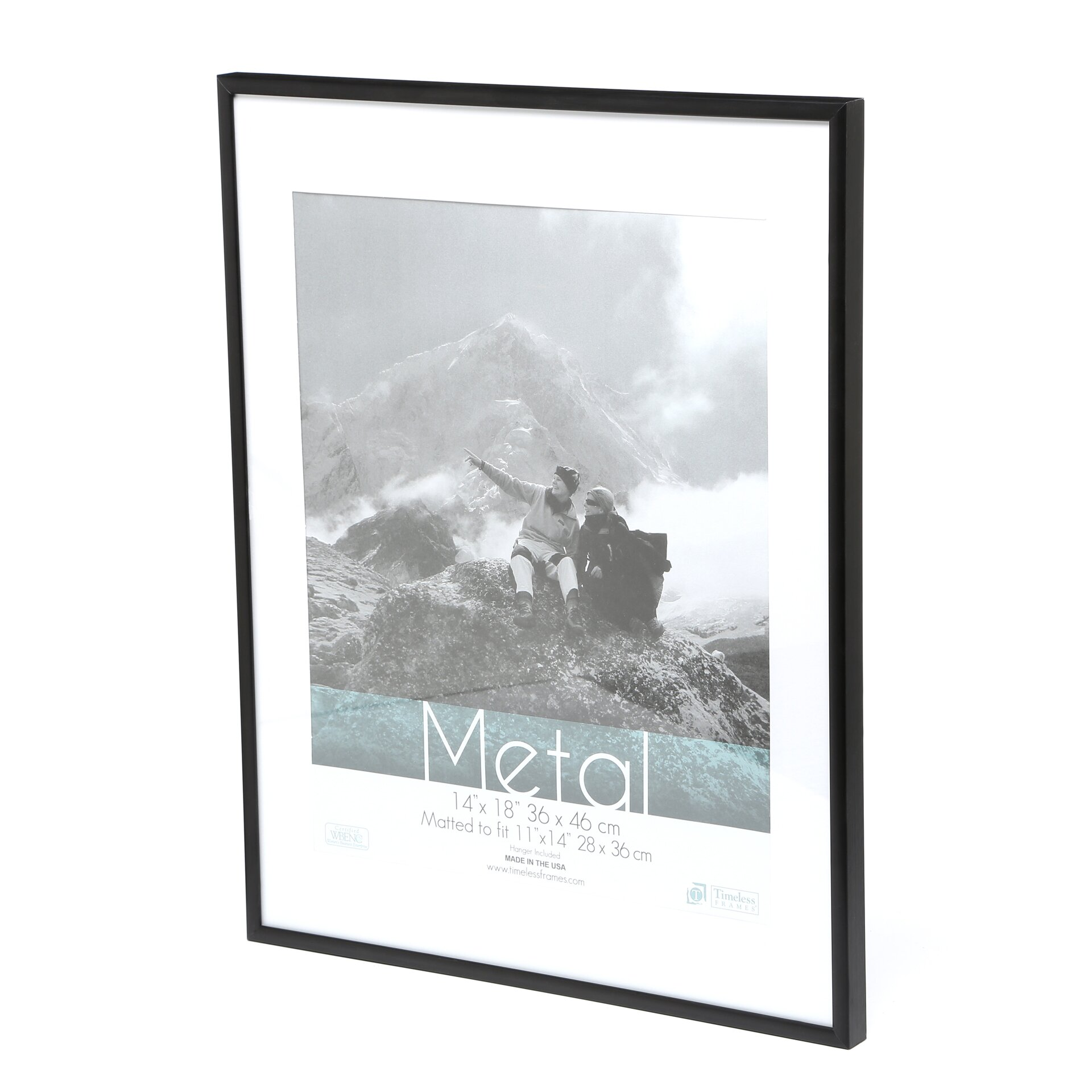Varick gallery pearson metal matted photo picture frame for 11x14 table top frame