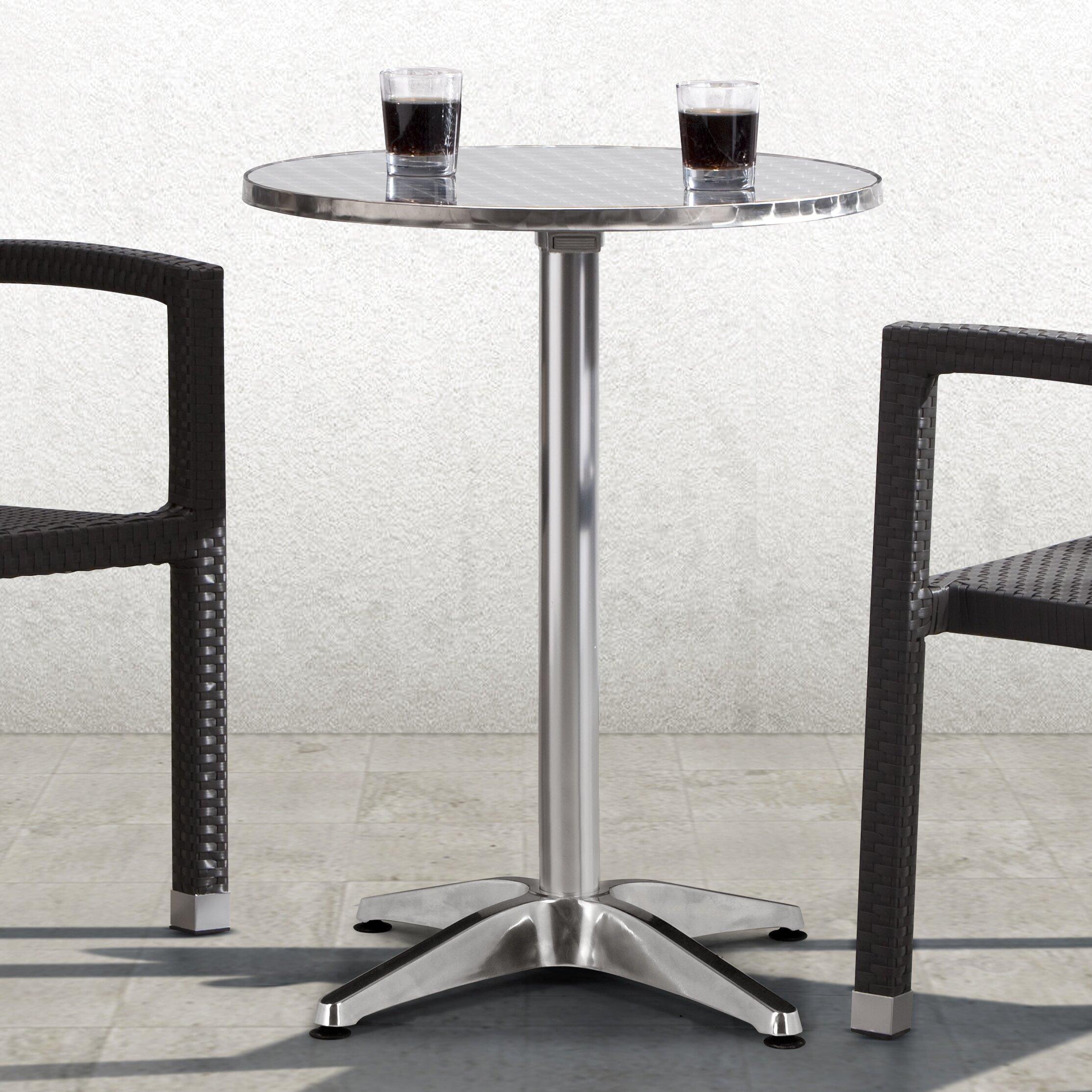 varick gallery applegate round folding bistro table. Black Bedroom Furniture Sets. Home Design Ideas