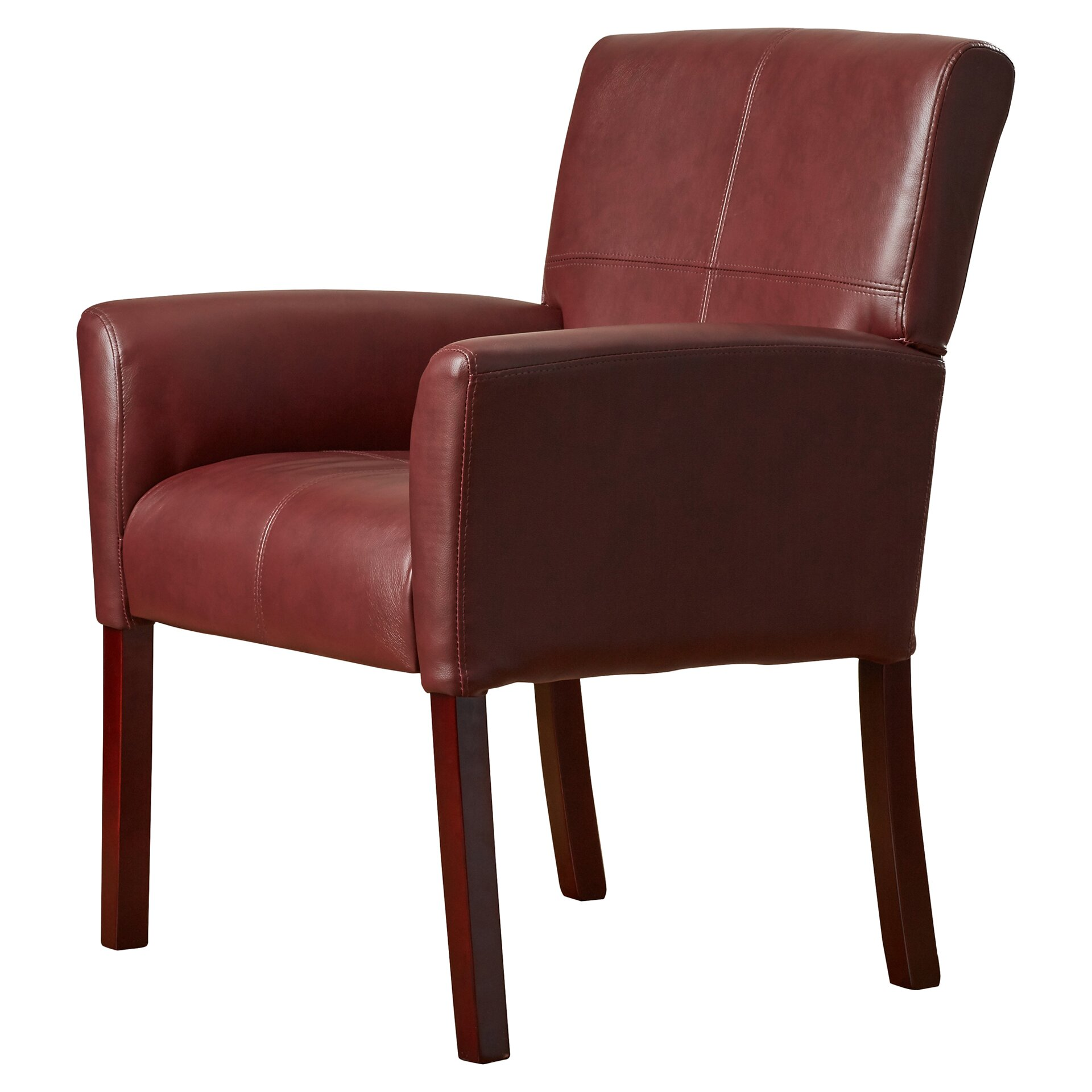Varick Gallery Milliken Leather Executive Lounge Chair & Reviews