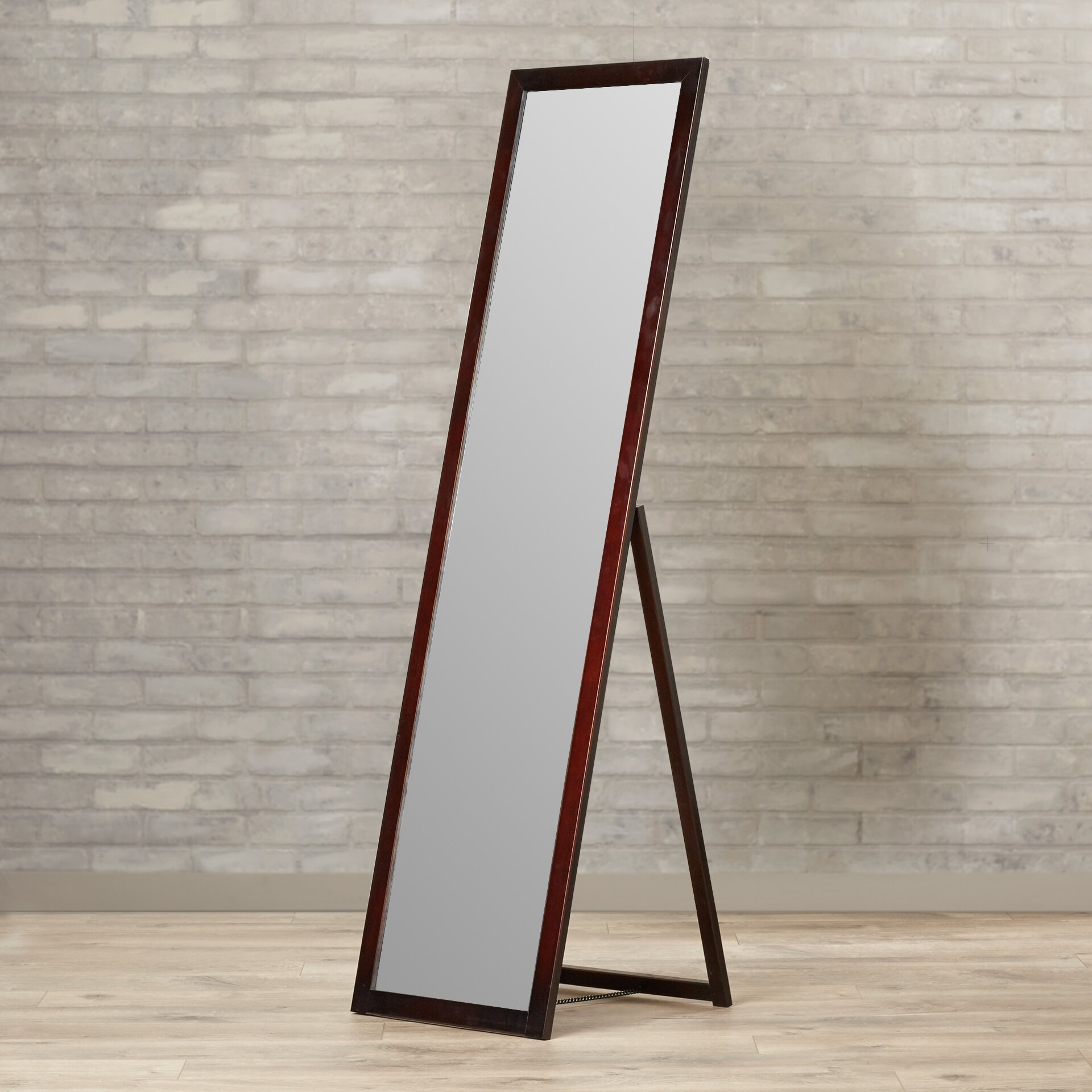 Varick gallery galeton full length stand mirror reviews for Full length window mirror