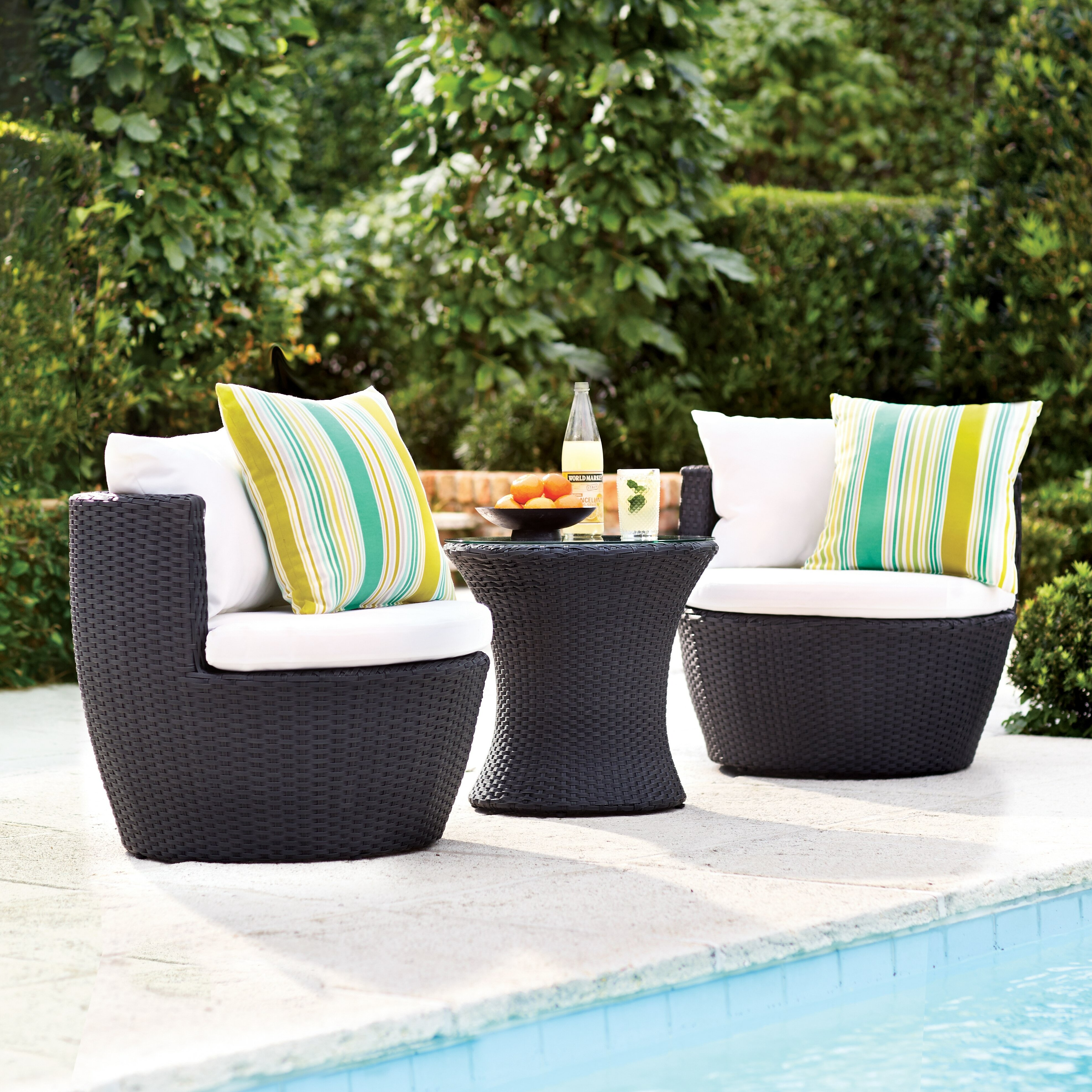 Varick Gallery Wyler 3 Piece Lounge Seating Group With