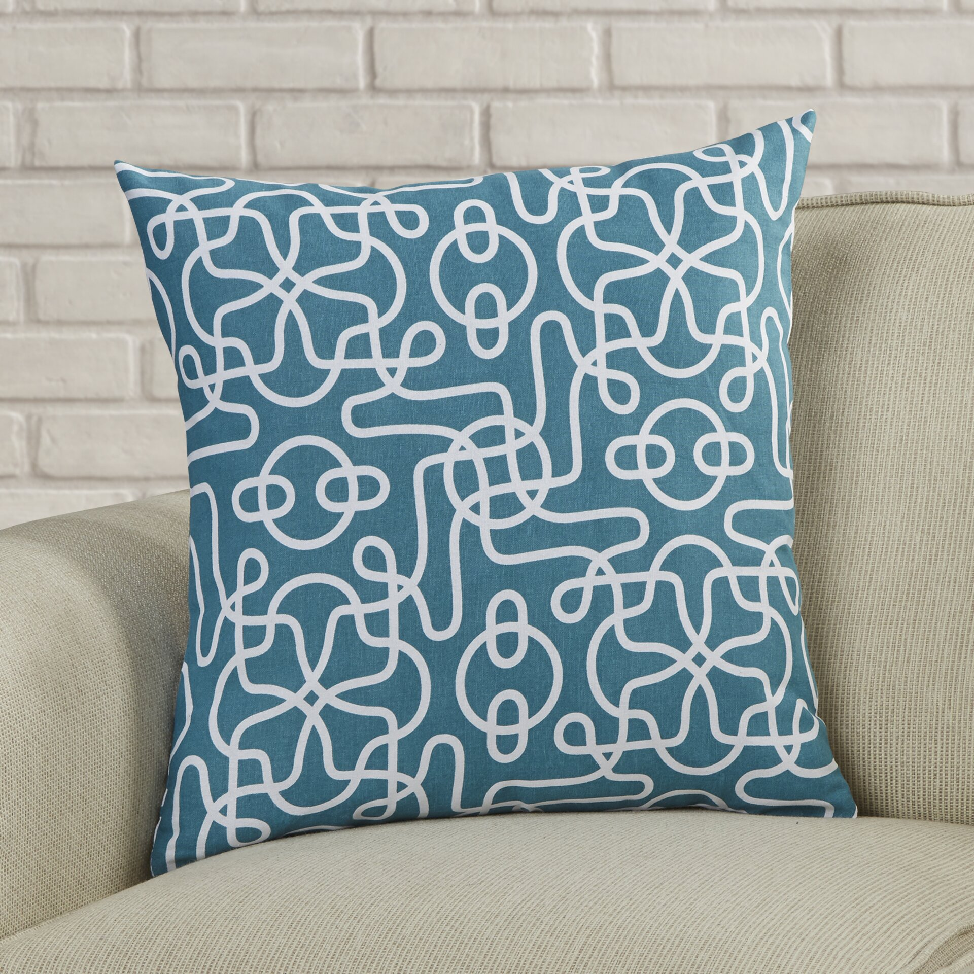 Throw Pillow Gallery : Varick Gallery Peterson Reversible Cotton Throw Pillow & Reviews Wayfair