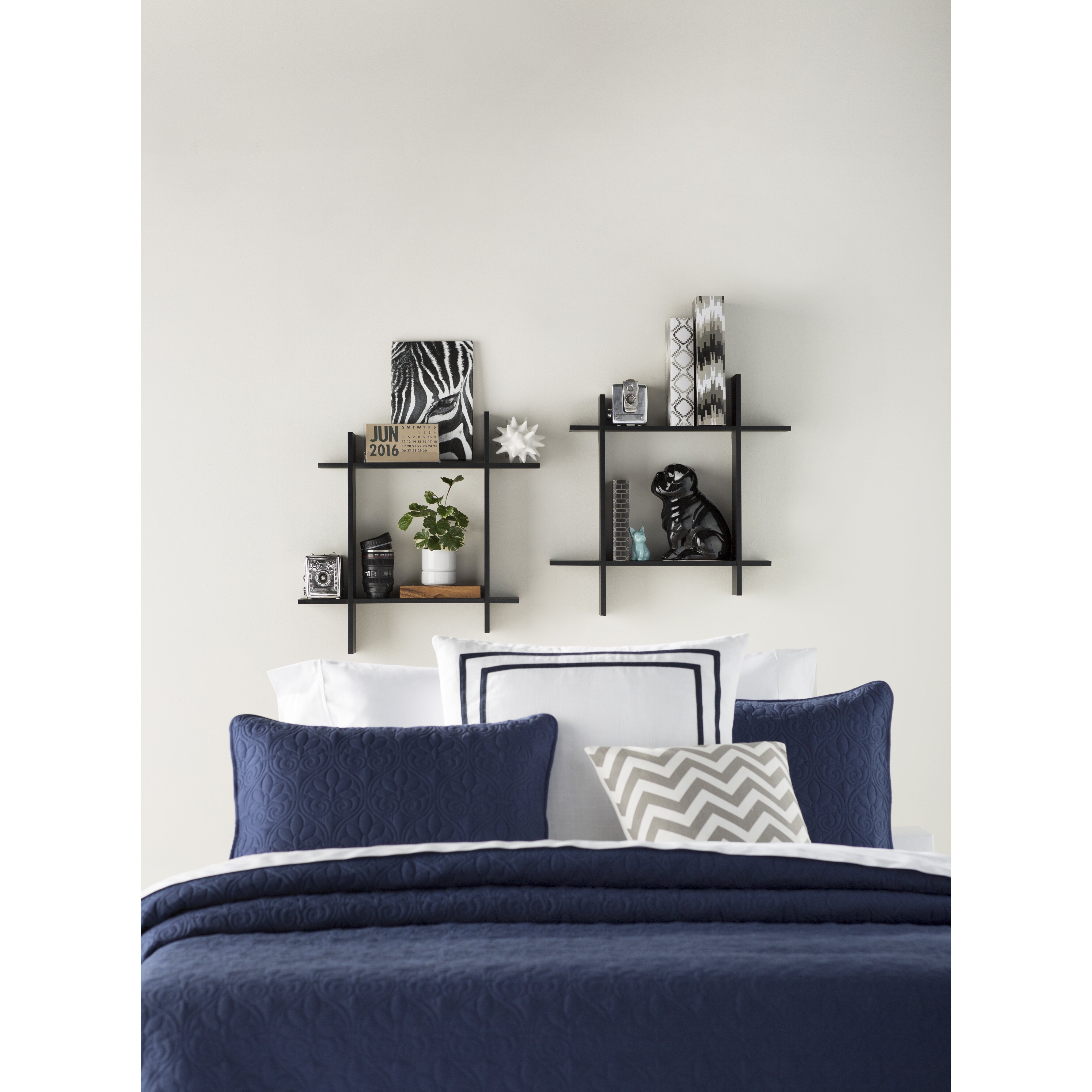 Varick gallery hutchison floating wall shelf reviews for Gallery wall shelves