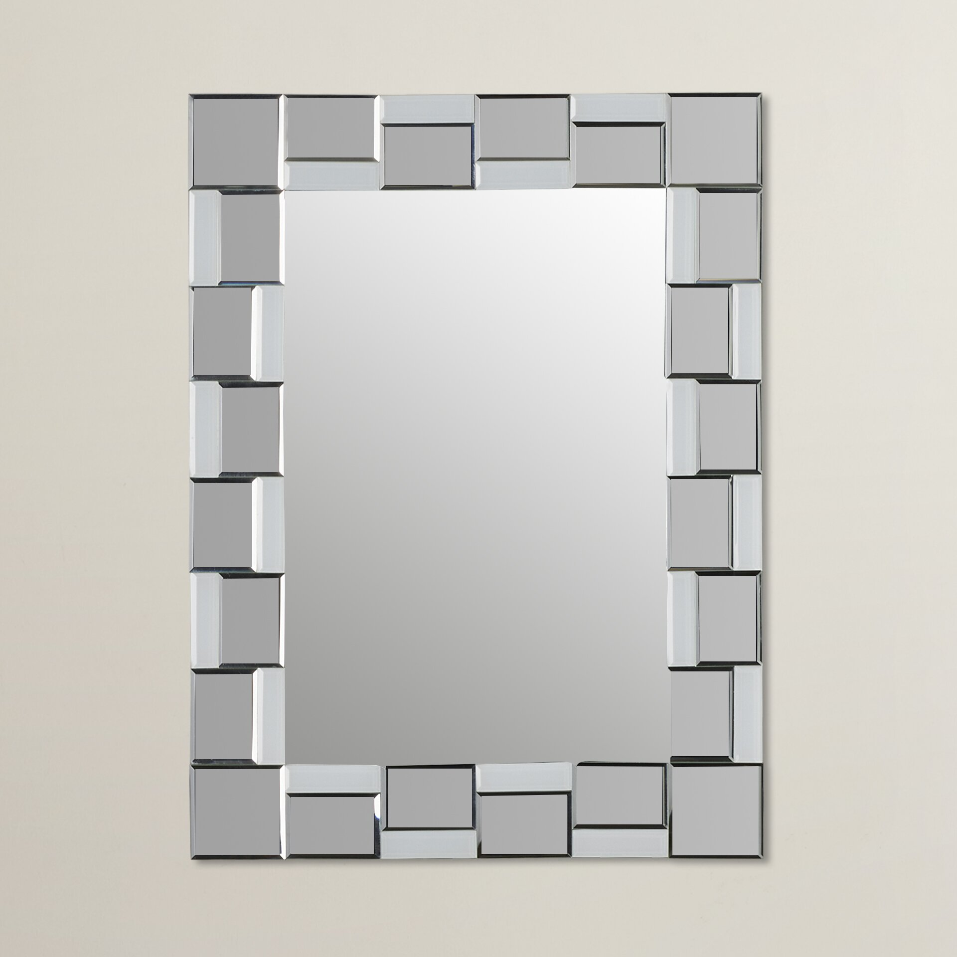 Varick gallery logan modern wall mirror reviews wayfair for Mirror gallery wall