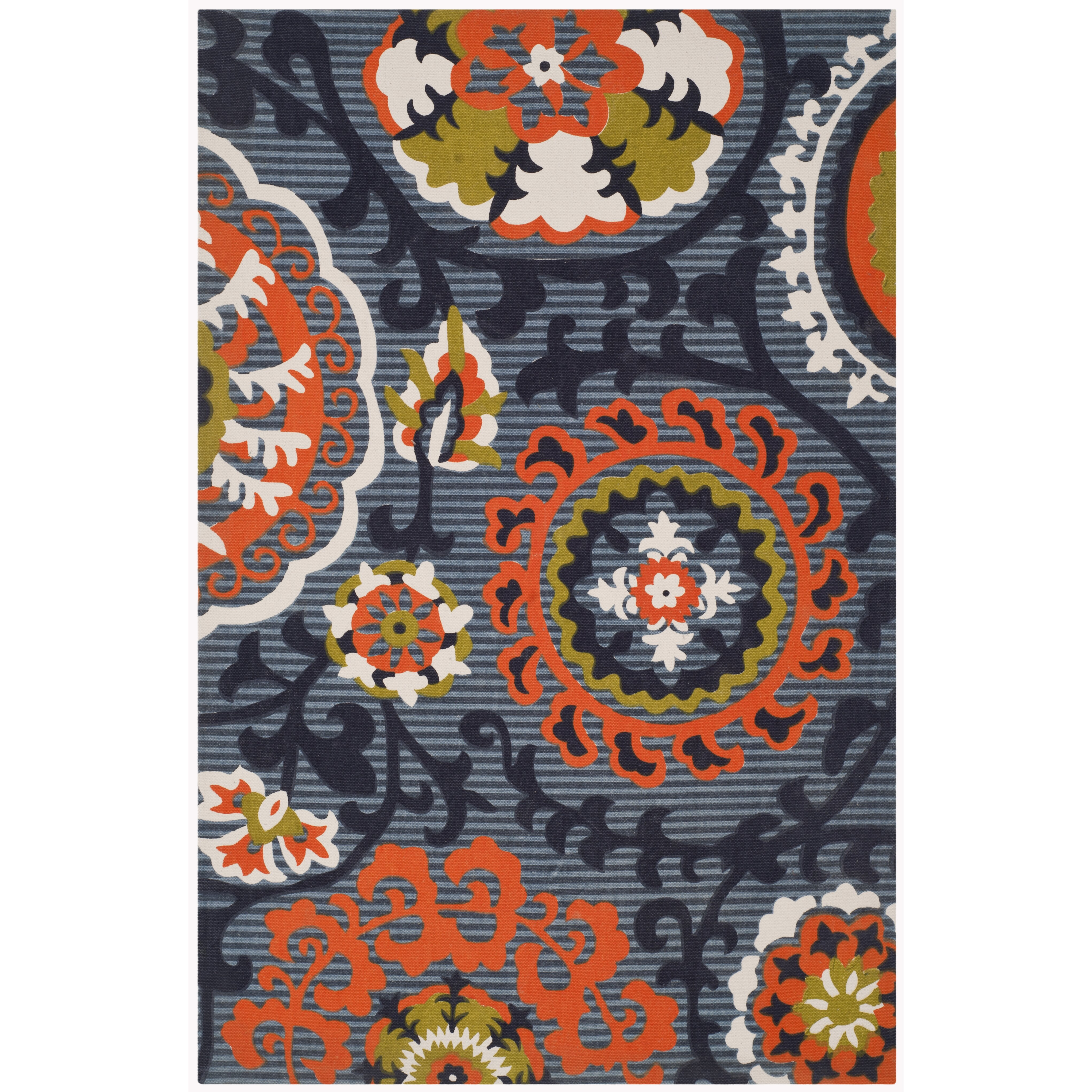 varick gallery columbus circle hand loomed blue orange area rug reviews wayfair. Black Bedroom Furniture Sets. Home Design Ideas