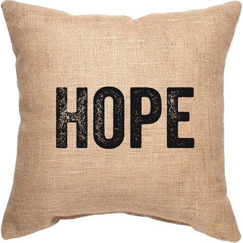 Hope Decorative Pillow : Varick Gallery Hope Decorative Burlap Throw Pillow & Reviews Wayfair.ca