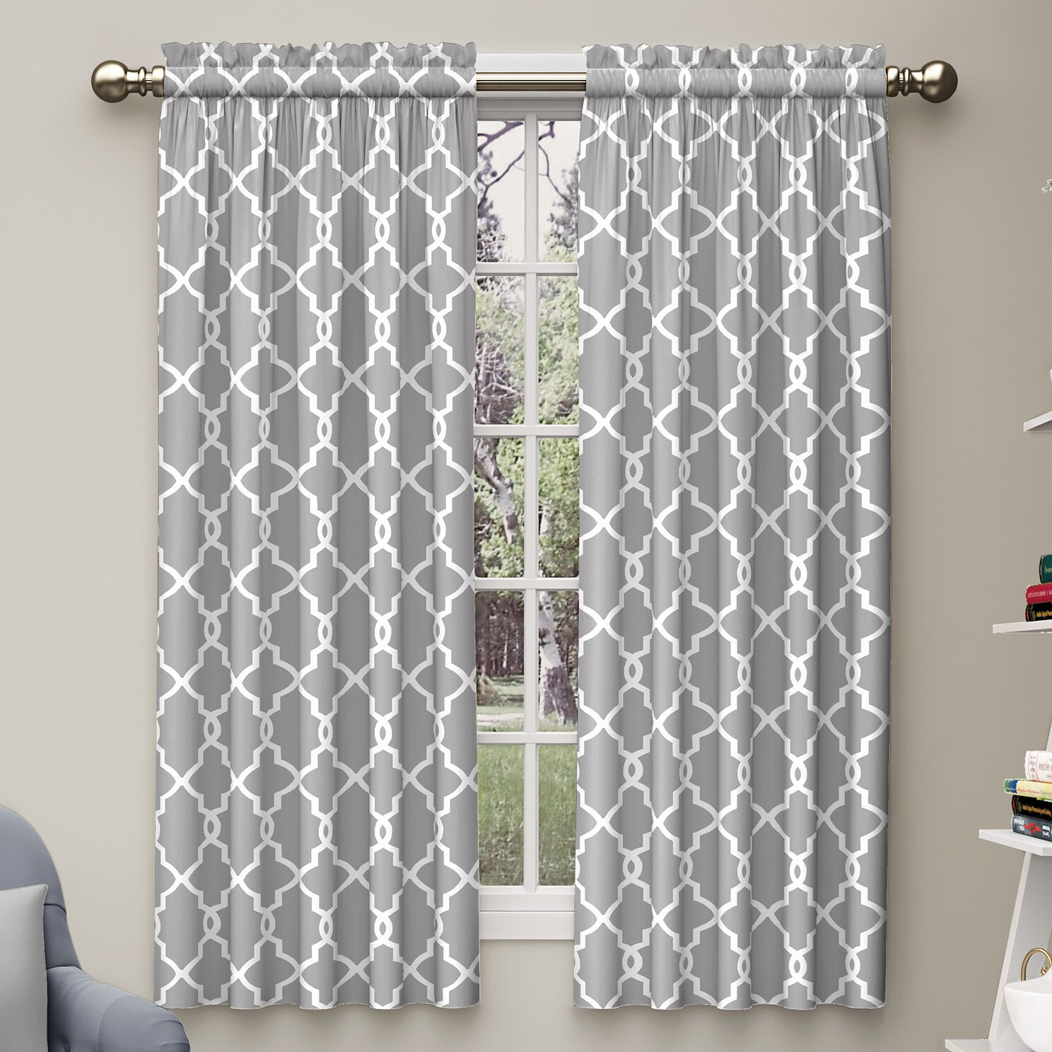 Varick Gallery Backstrom Curtain Panel Amp Reviews Wayfair