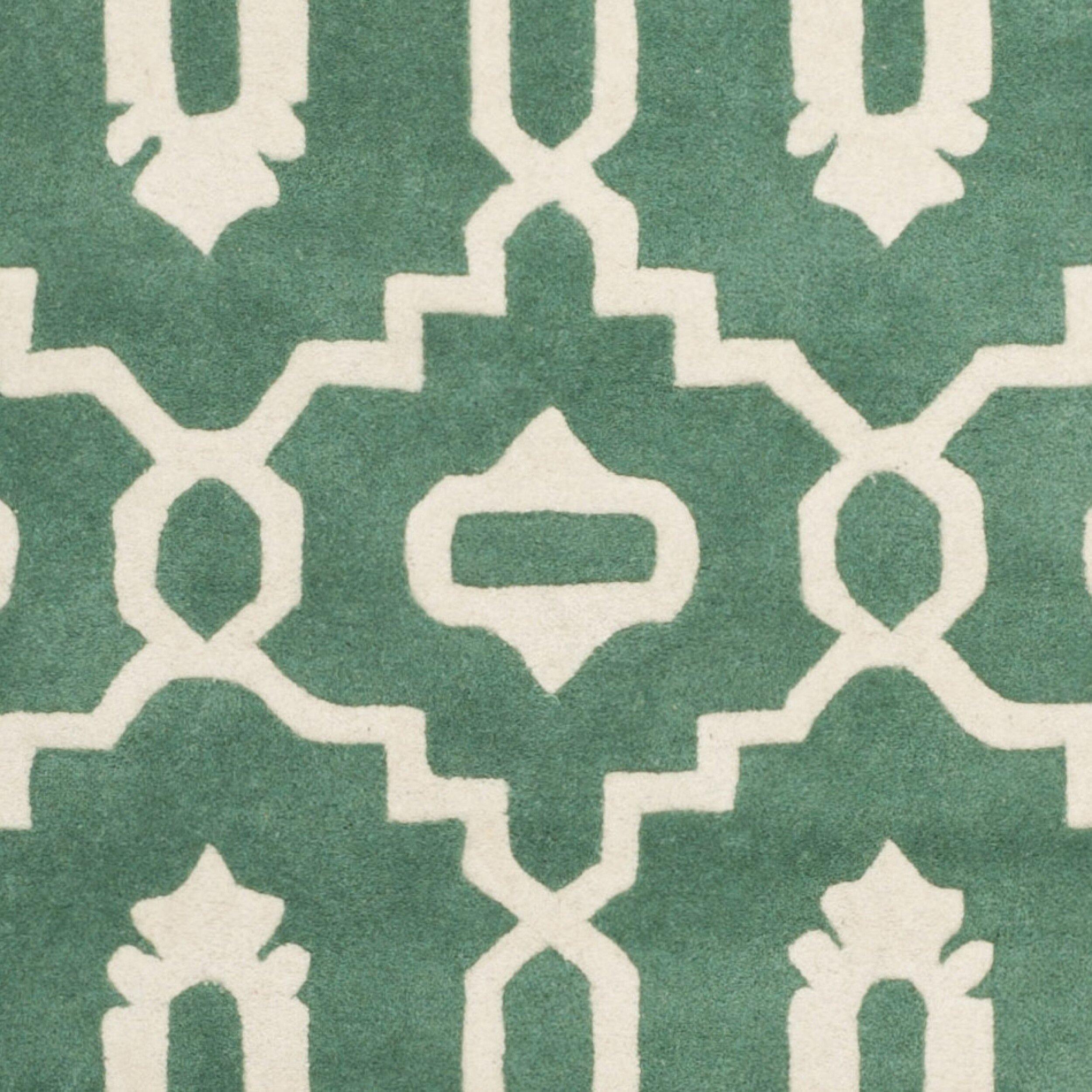 Varick Gallery Wilkin Teal/Ivory Moroccan Area Rug