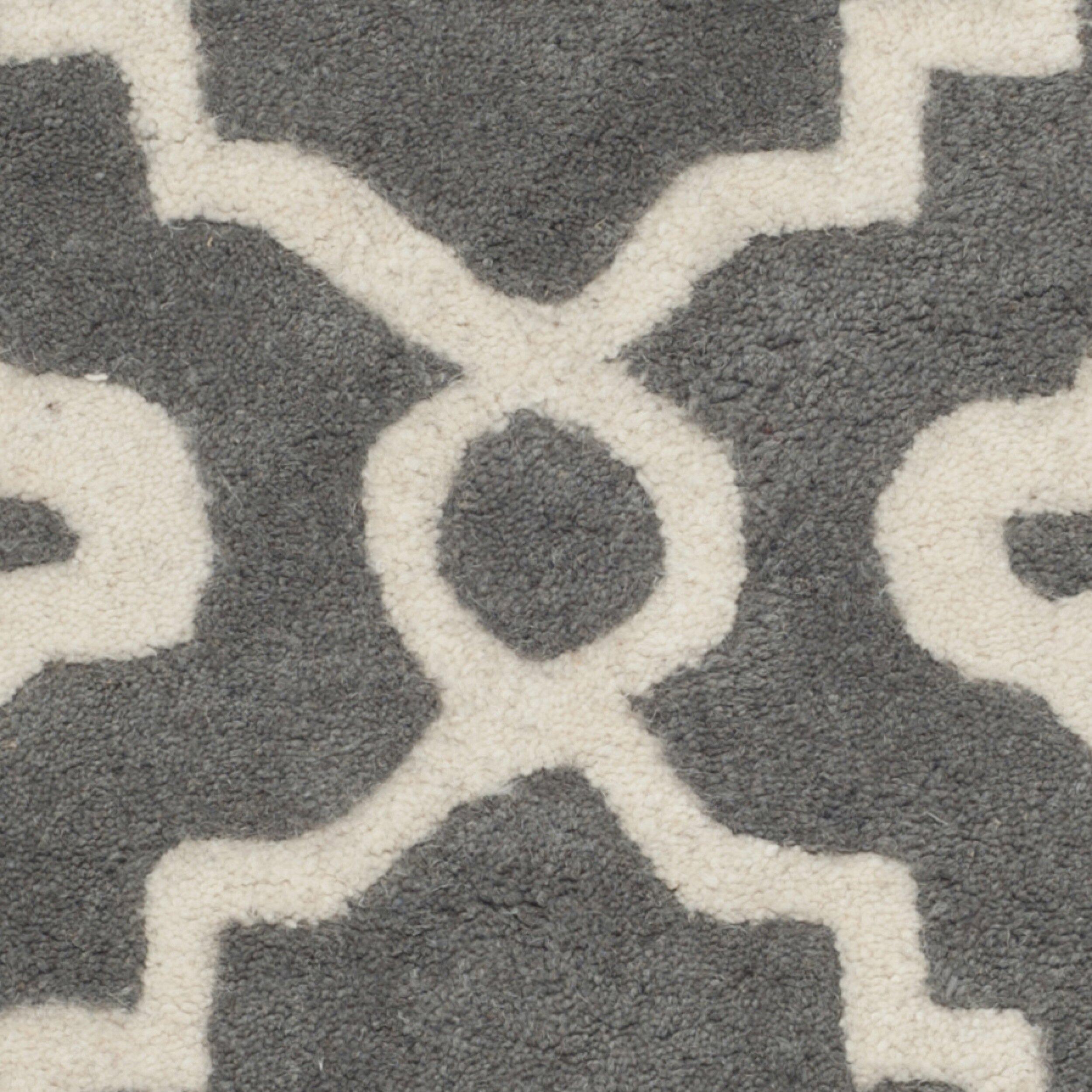 Varick Gallery Wilkin Dark Grey / Ivory Moroccan Rug