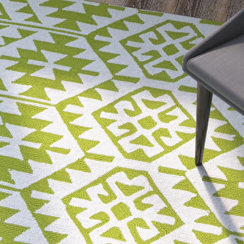 Lime Green Rugs For Kitchen: Varick Gallery Lime Green/Ivory Indoor/Outdoor Area Rug