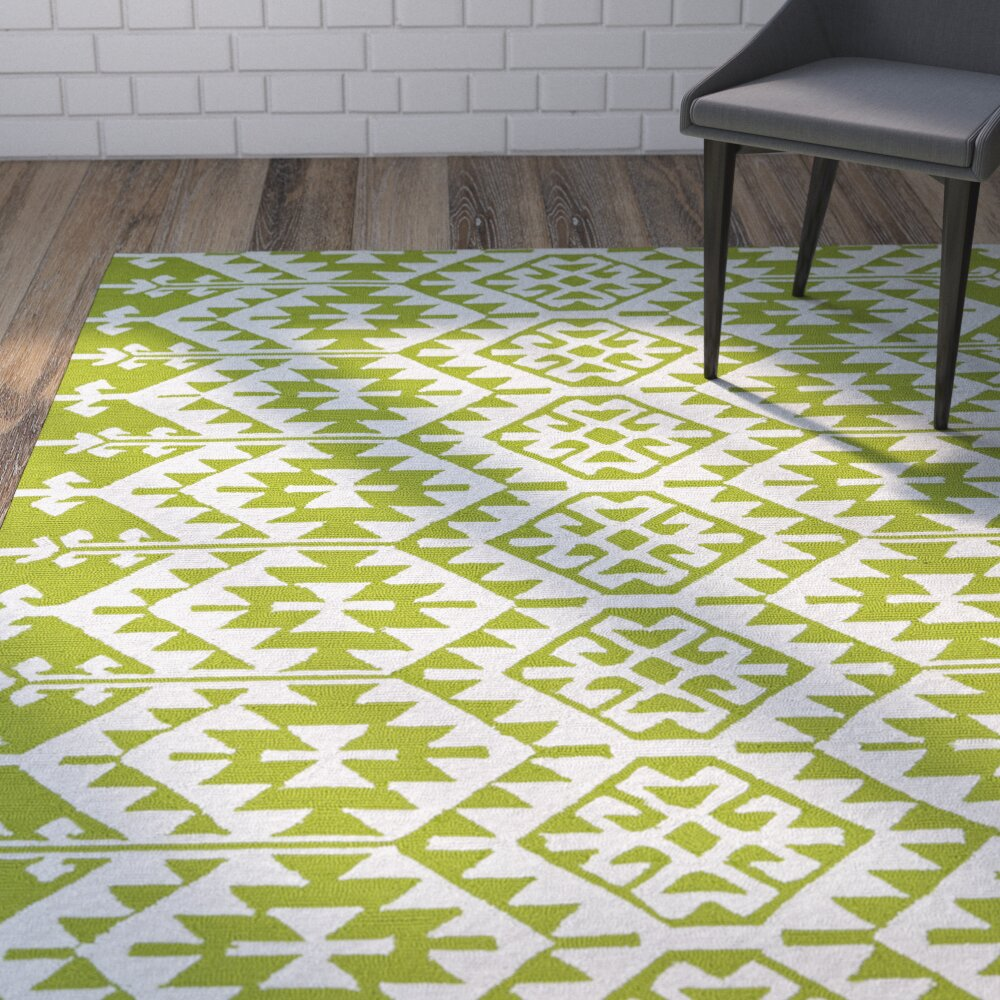Lime Green Kitchen Rug: Varick Gallery Lime Green/Ivory Indoor/Outdoor Area Rug