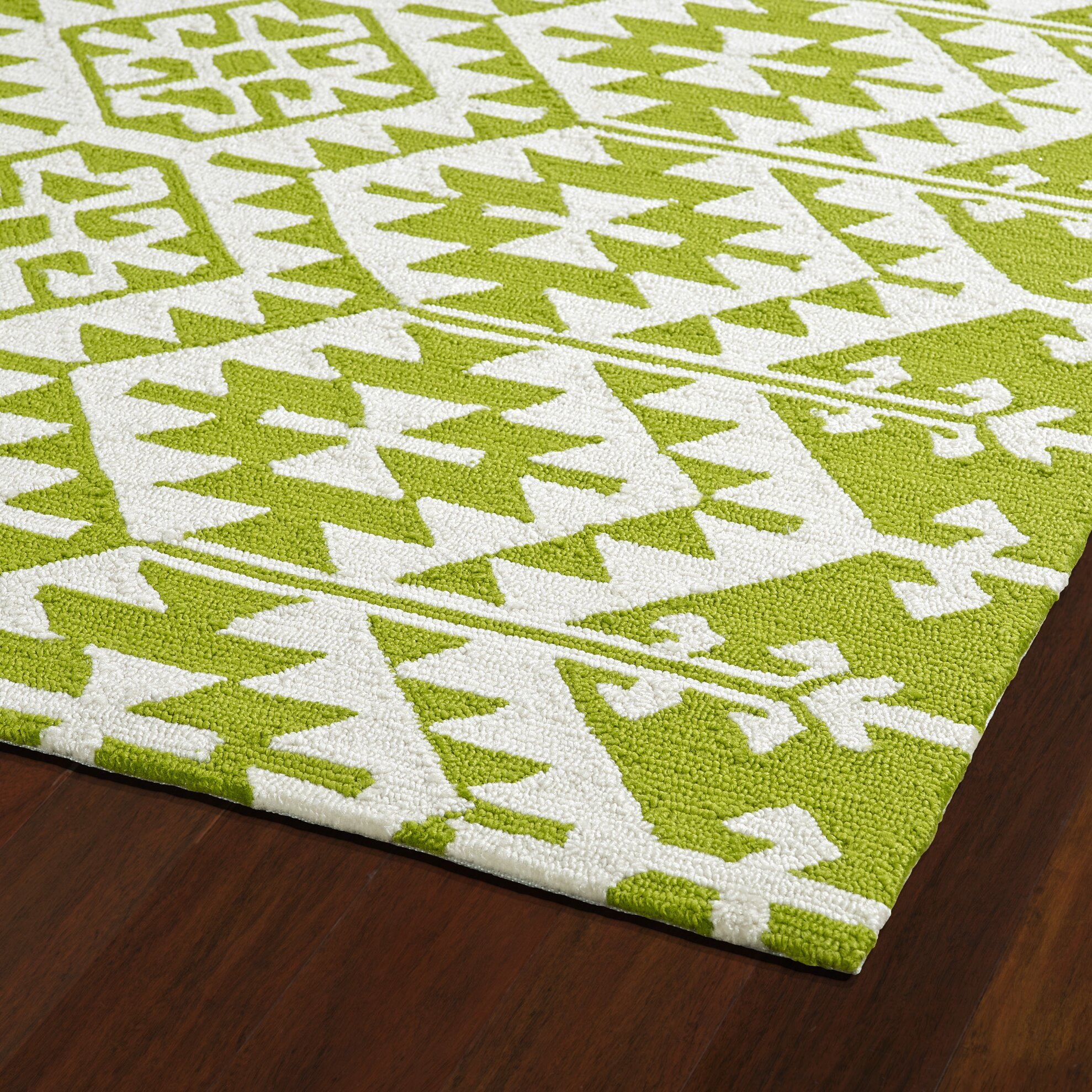 Varick gallery lime green ivory indoor outdoor area rug for Indoor out door rugs