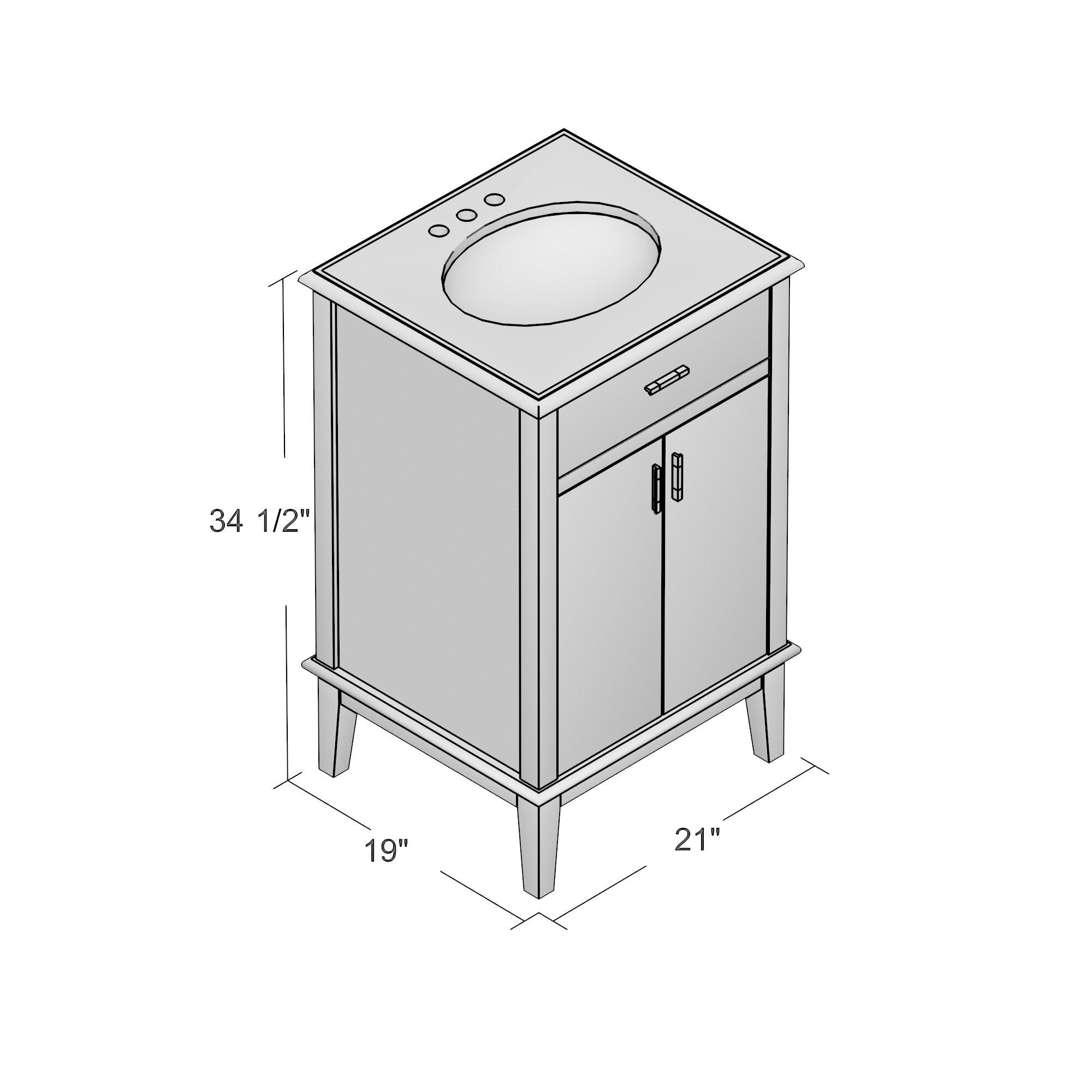 """Varick Gallery Pinecrest 21"""" Single Bathroom Vanity Set"""