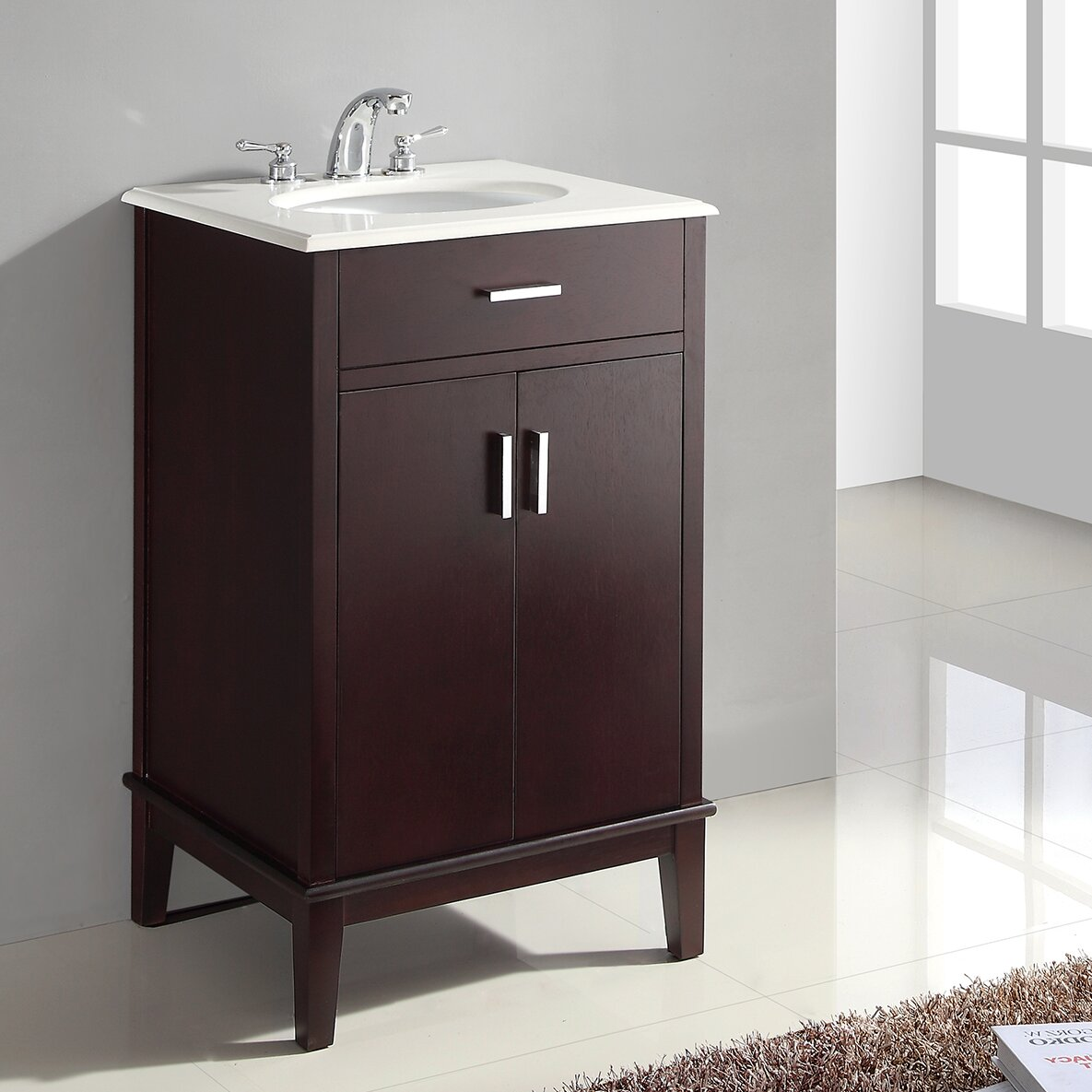 Varick gallery pinecrest 21 single bathroom vanity set for Bath and vanity set