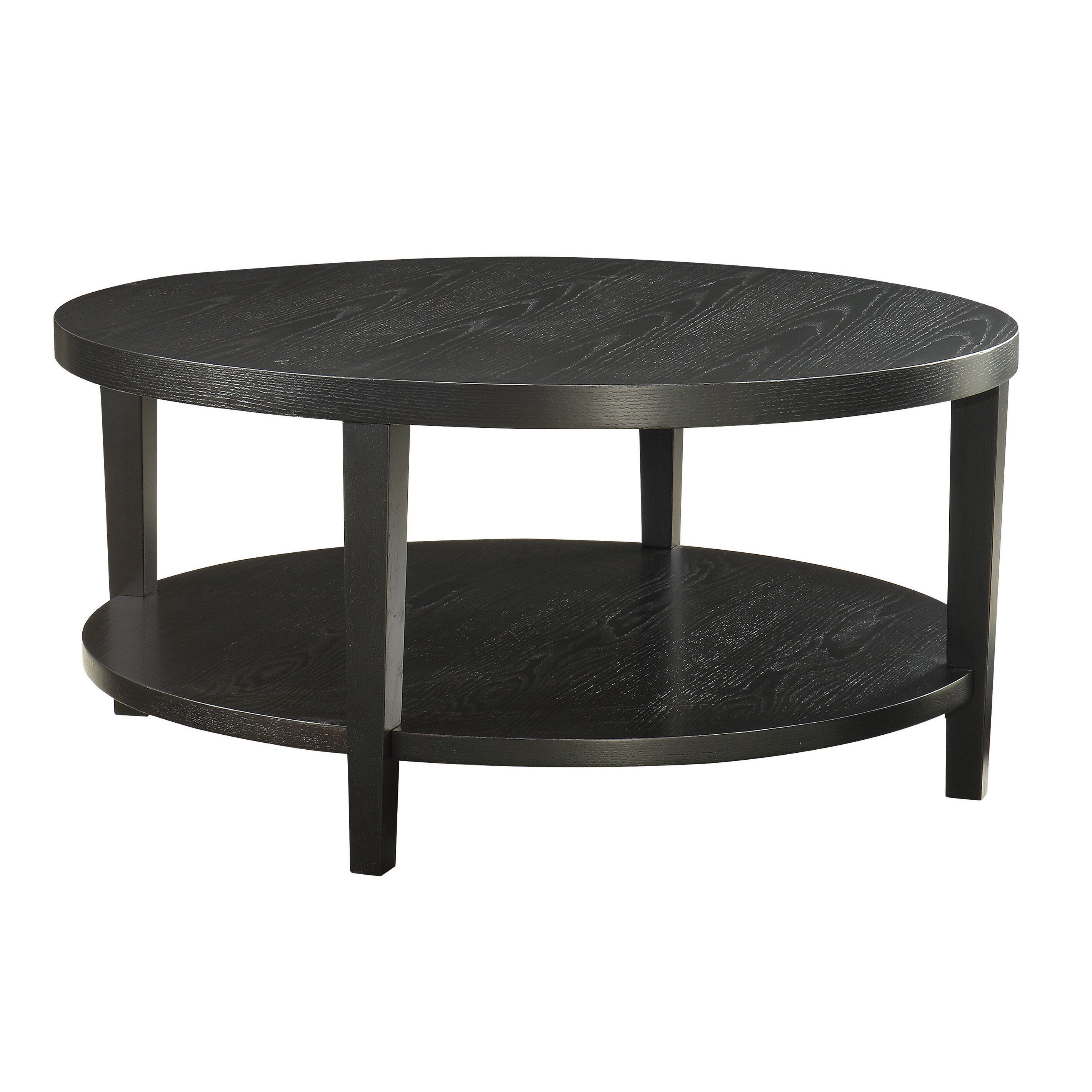 Brayden studio fabiano round coffee table reviews wayfair for Wayfair round glass coffee table