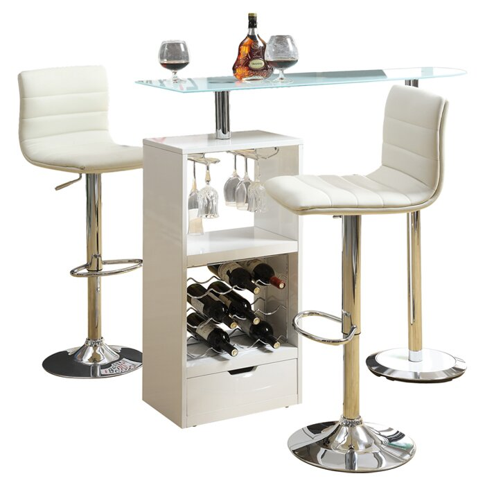Brayden Studio Morano Versatile Pub Table amp Reviews Wayfair : Bar2BTable2Bin2BWhite from www.wayfair.com size 700 x 700 jpeg 77kB