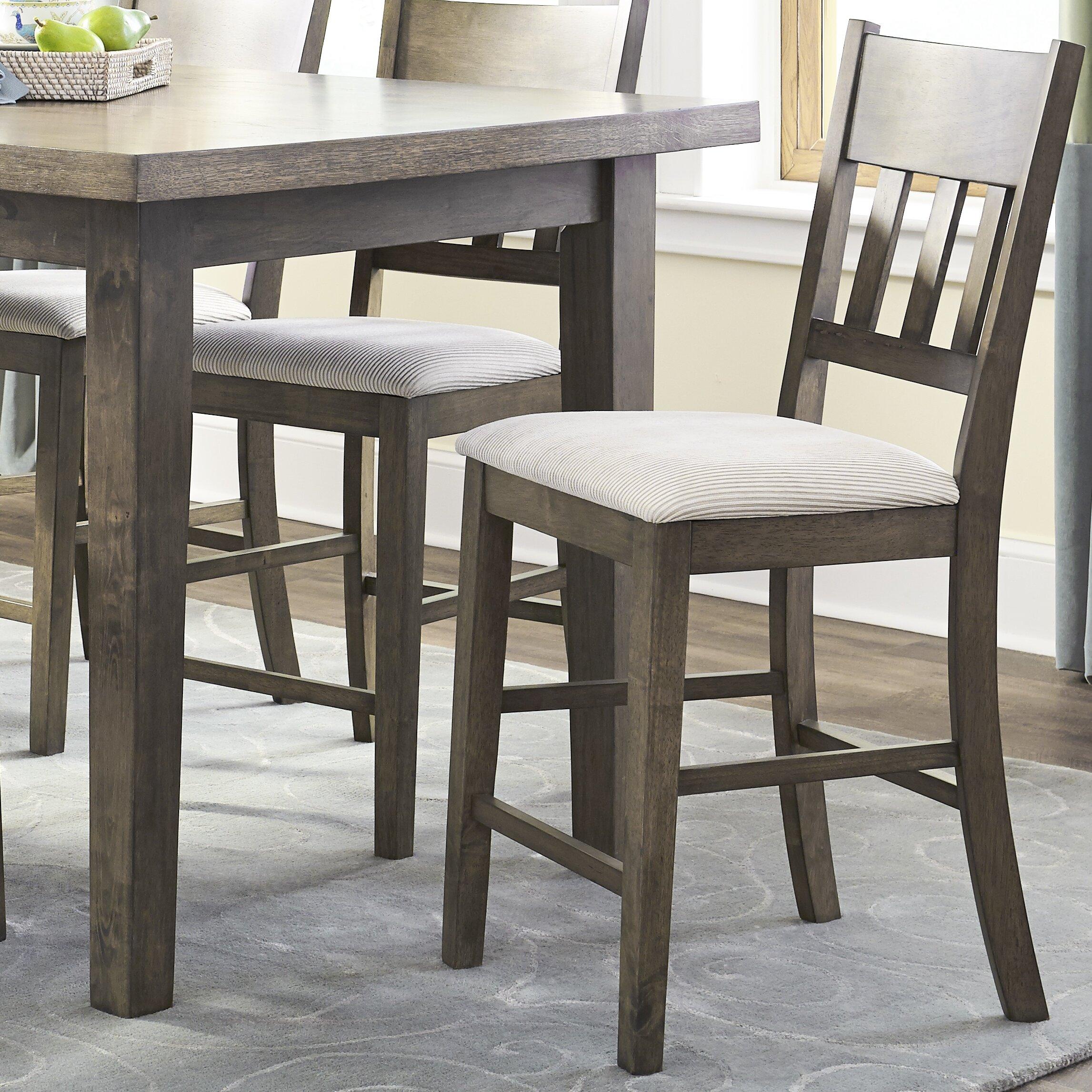 Brayden studio nelumbo 7 piece counter height dining set for 7 piece dining room set counter height