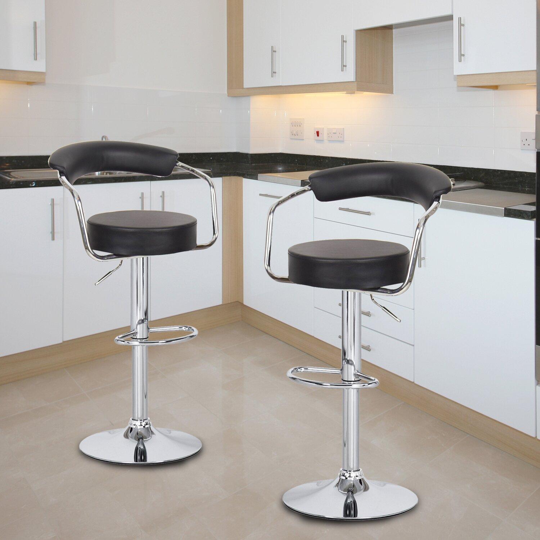 Brayden studio stepney adjustable height swivel bar stool for Adjustable height bar stools