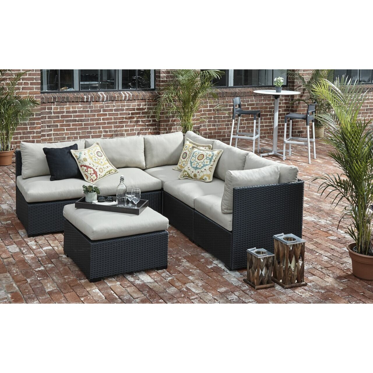Brayden Studio Vanbuskirk Ottoman With Cushions Reviews