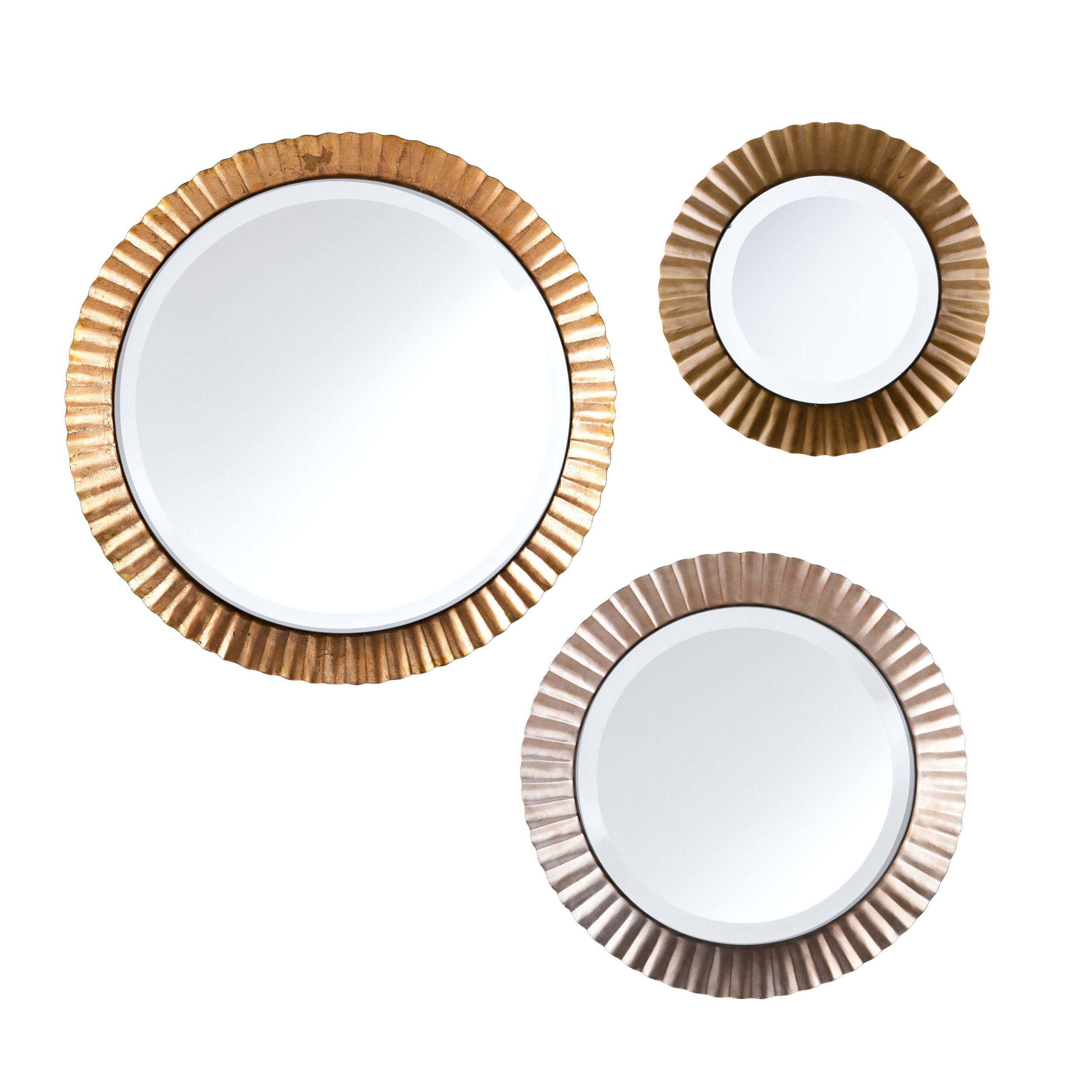 Brayden Studio 3 Piece Wall Mirror Set & Reviews | Wayfair