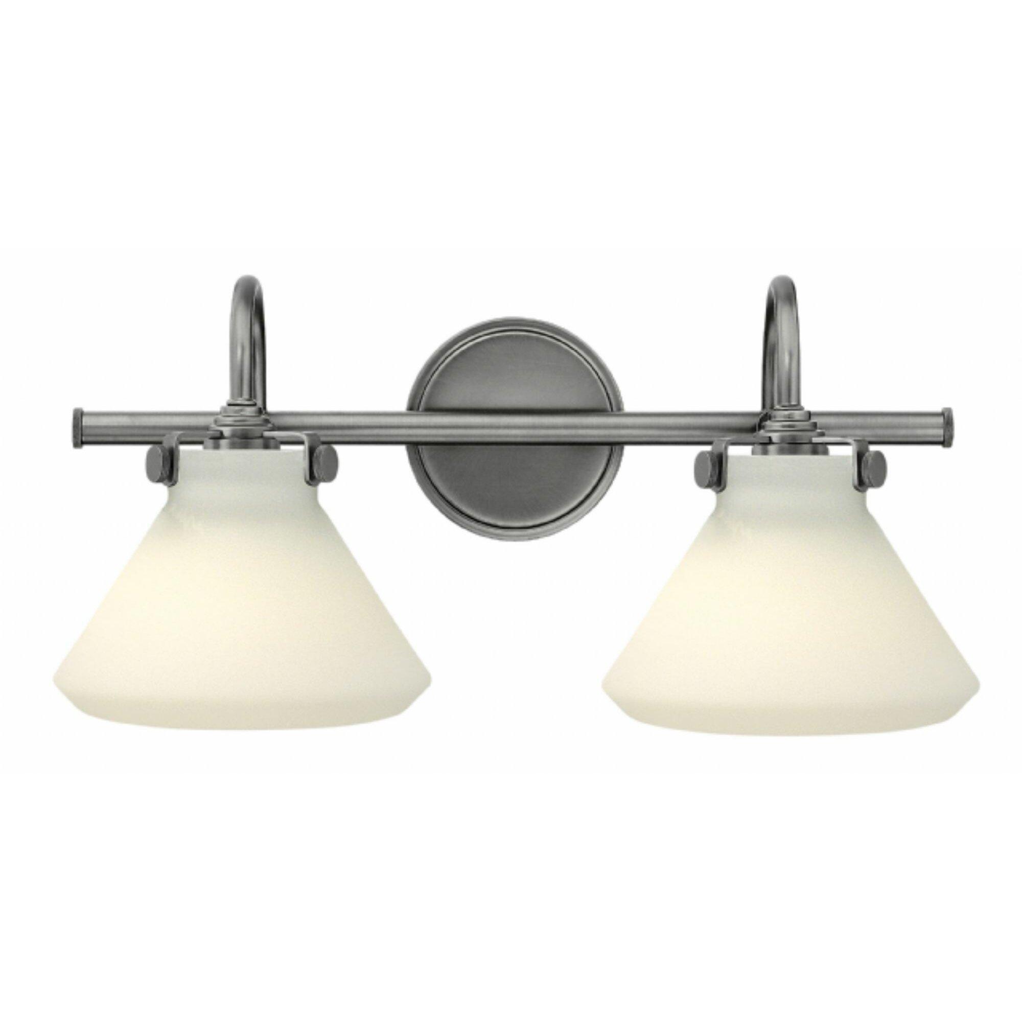 Vanity With Studio Lights : Brayden Studio Howells 2 Light Vanity Light Wayfair