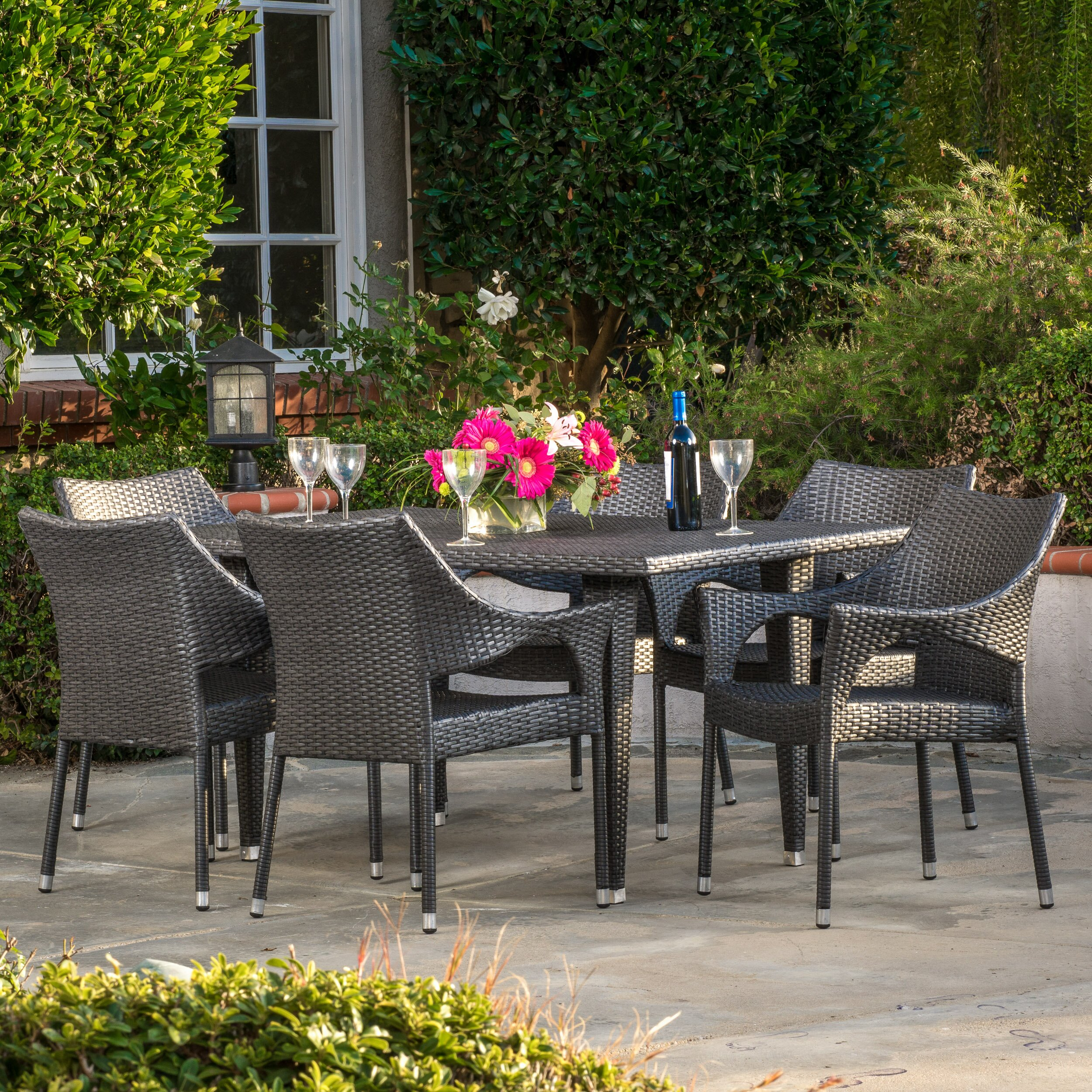 Brayden Studio Dupuis Outdoor 7 Piece Dining Set Reviews Wayfair