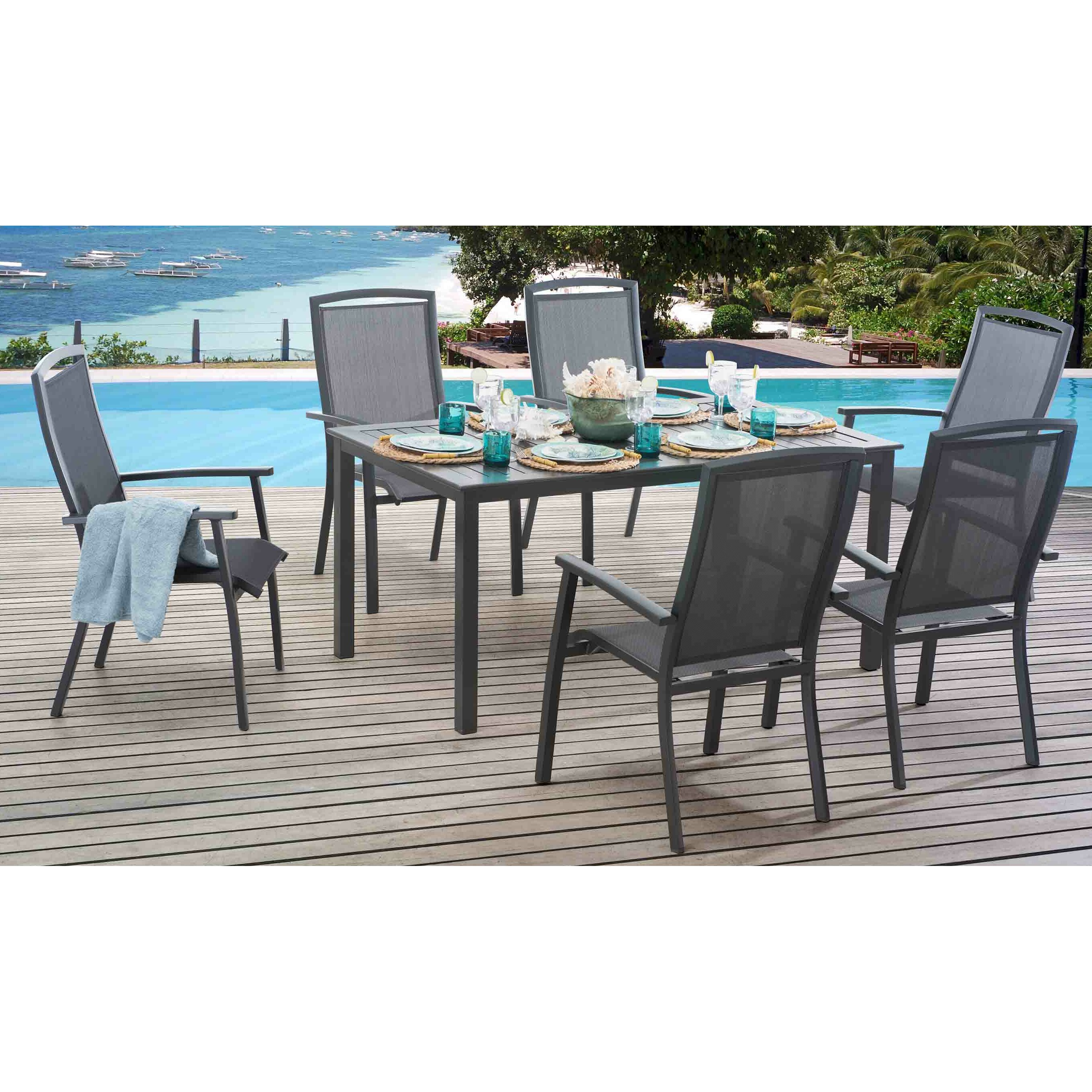 Brayden Studio Stever 7 Piece Dining Set Wayfair